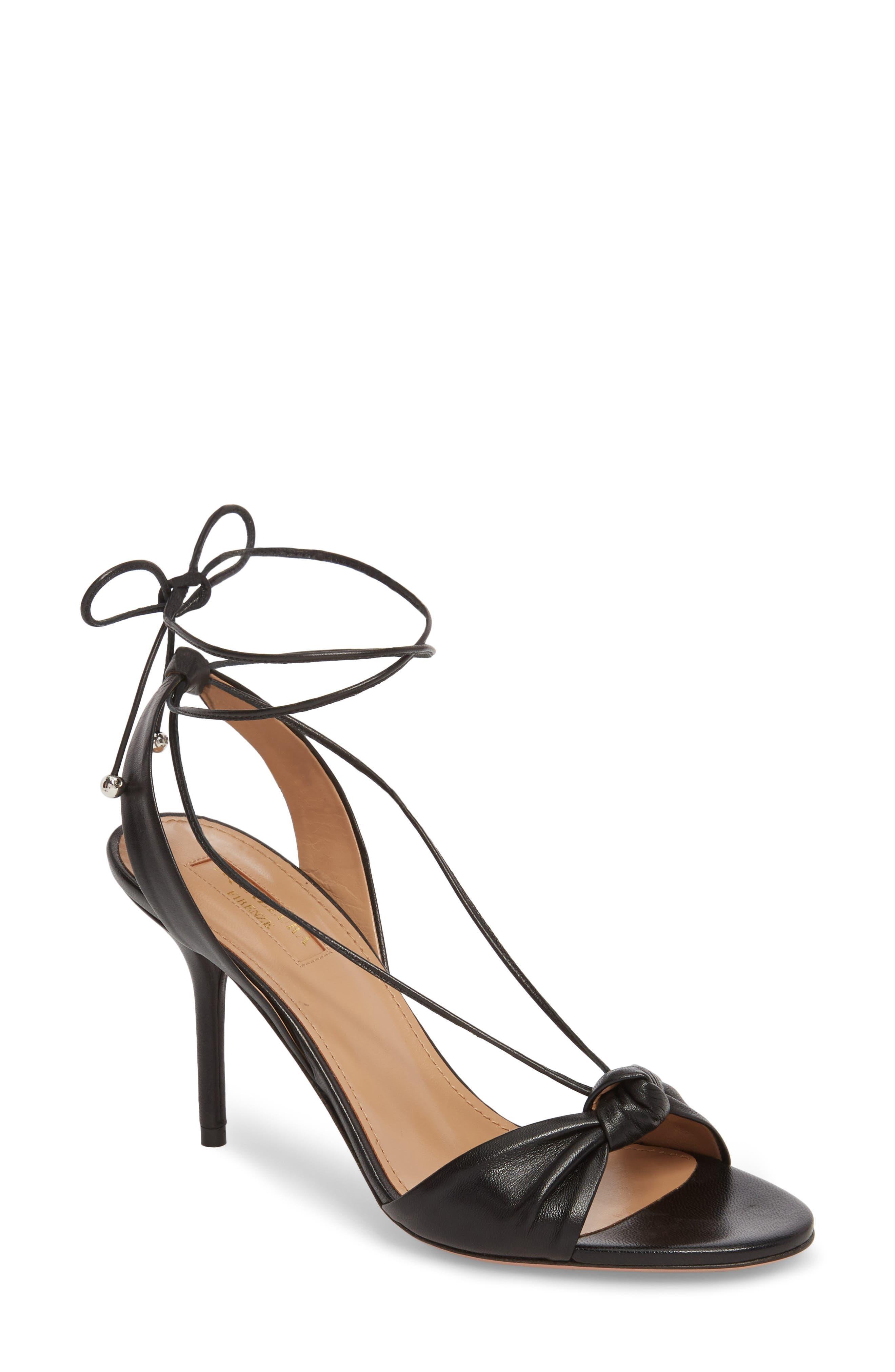 Virginie Lace-Up Sandal,                             Main thumbnail 1, color,                             BLACK