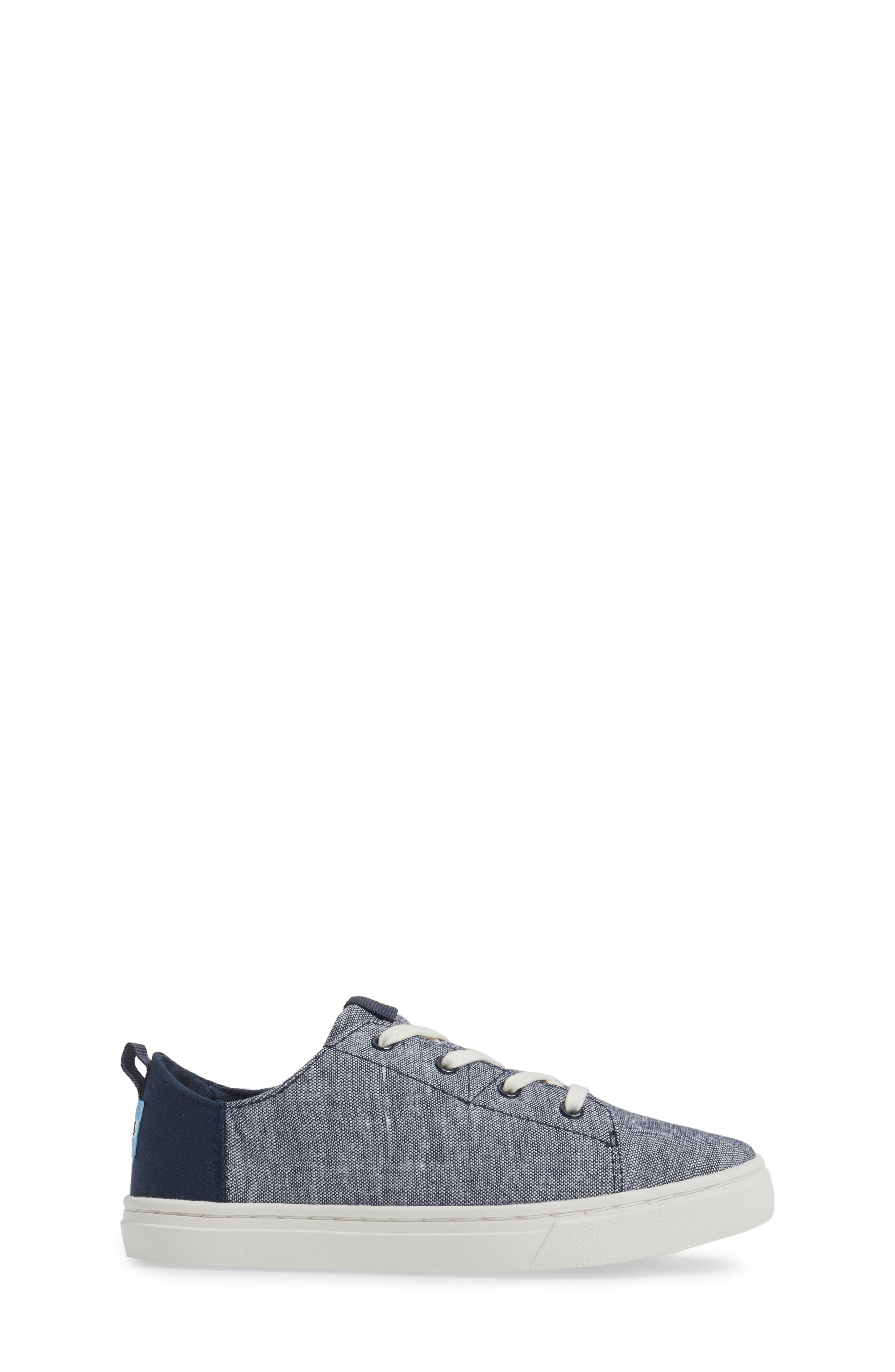 Lenny Sneaker,                             Alternate thumbnail 3, color,                             NAVY CHAMBRAY