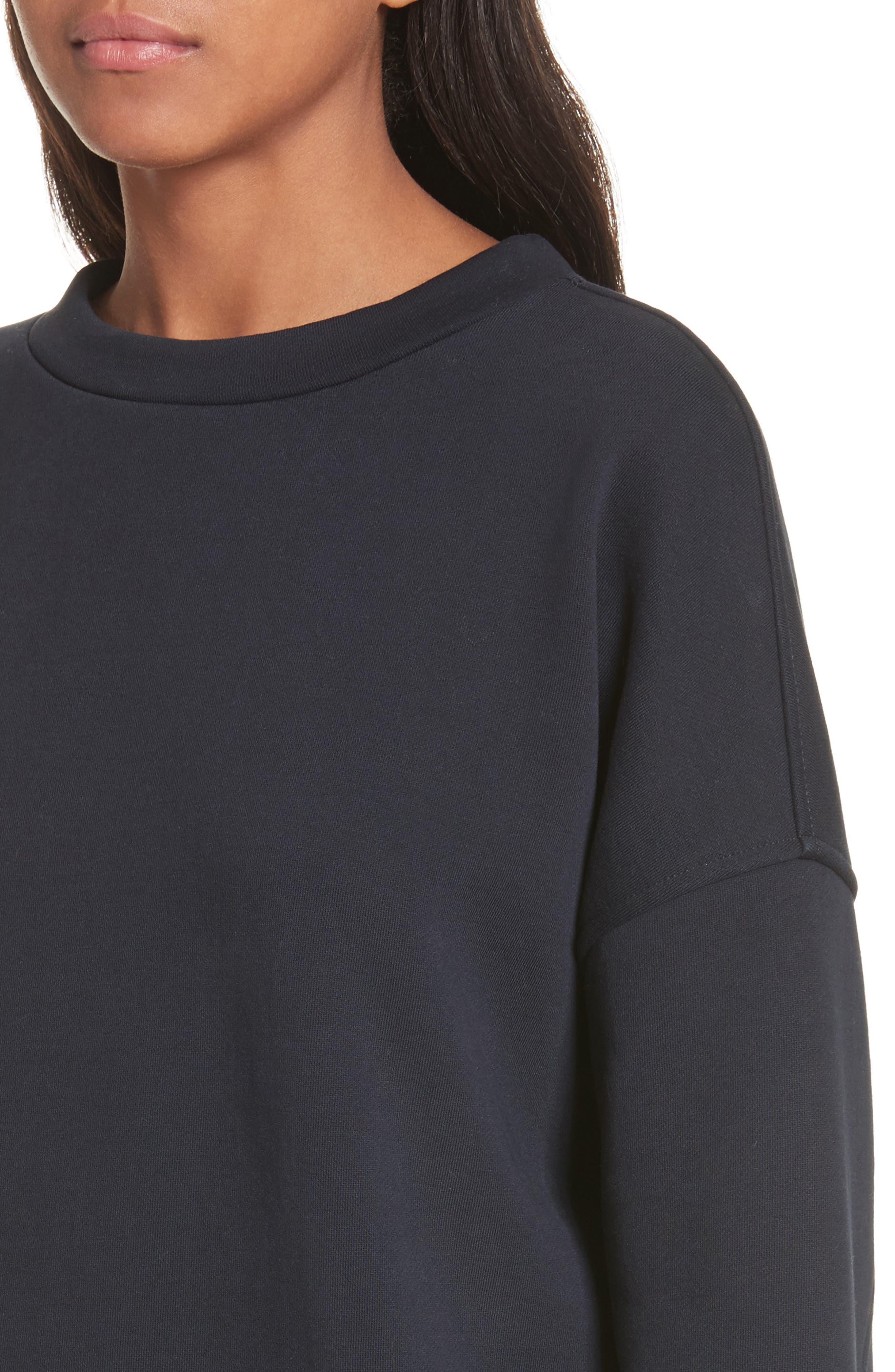 Mock Neck Sweatshirt,                             Alternate thumbnail 8, color,