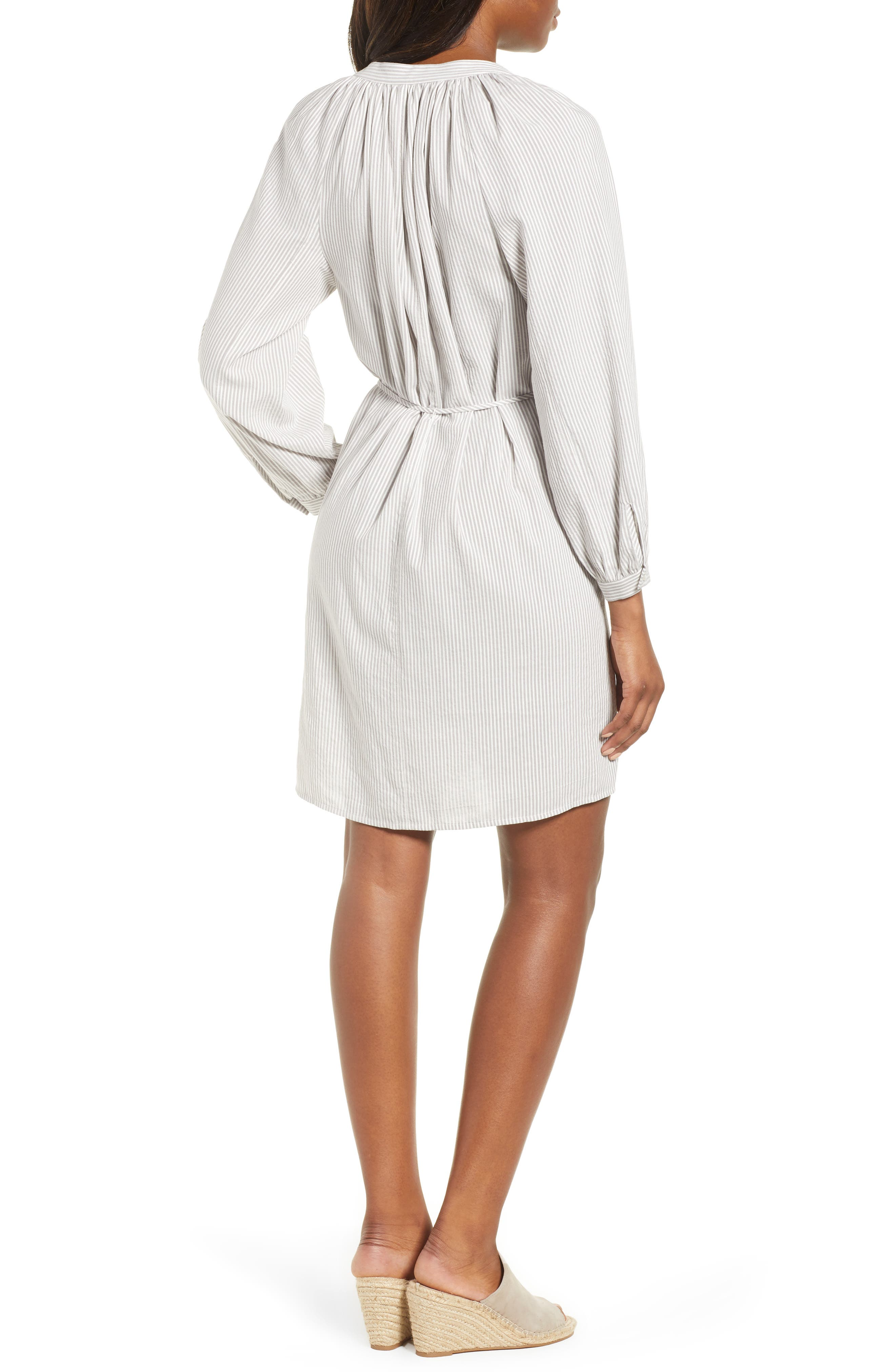 Stripe Smocked Dress,                             Alternate thumbnail 2, color,                             050