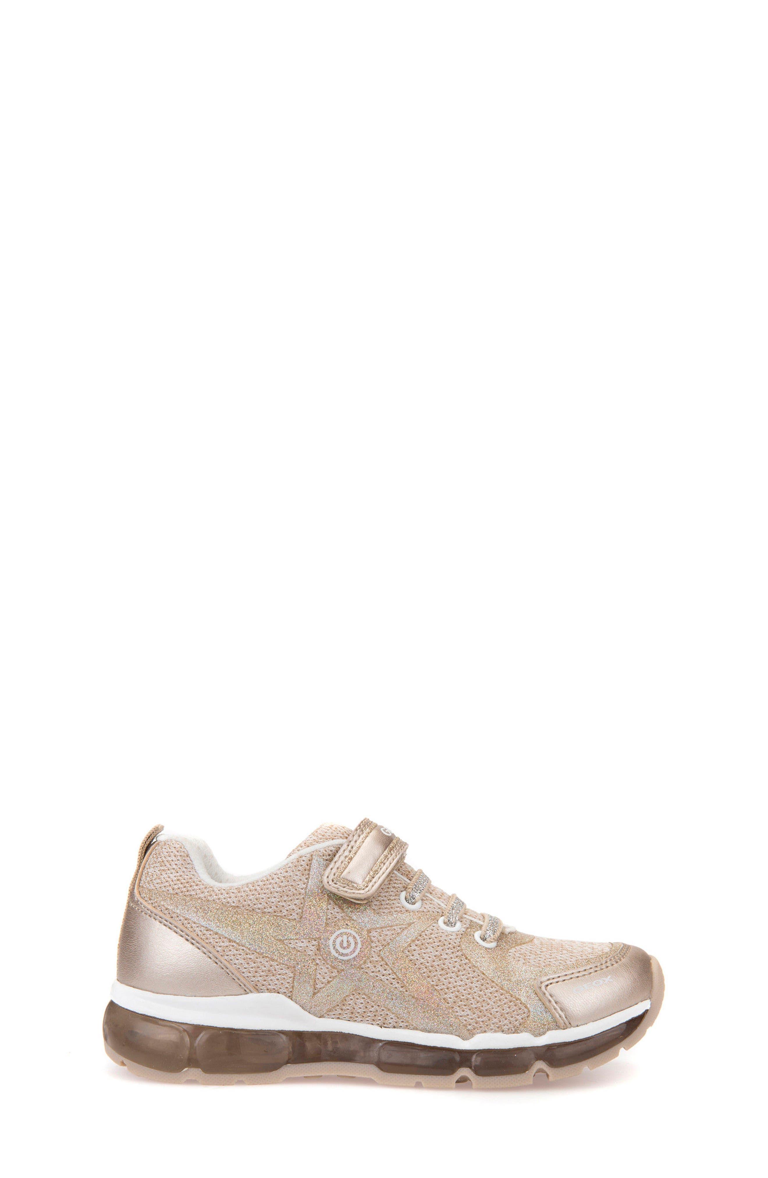 Android Light-Up Sneaker,                             Alternate thumbnail 3, color,                             PLATINO/ WHITE