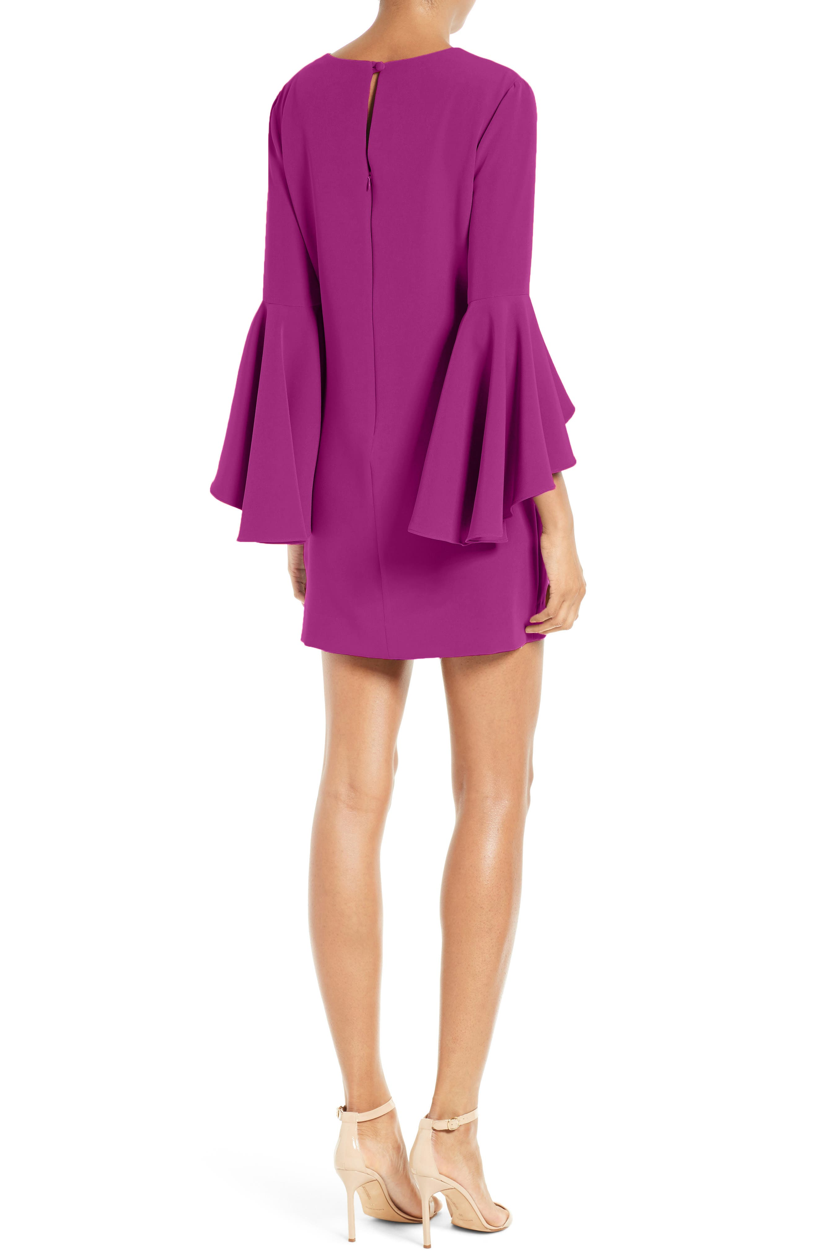 Nicole Bell Sleeve Dress,                             Alternate thumbnail 27, color,