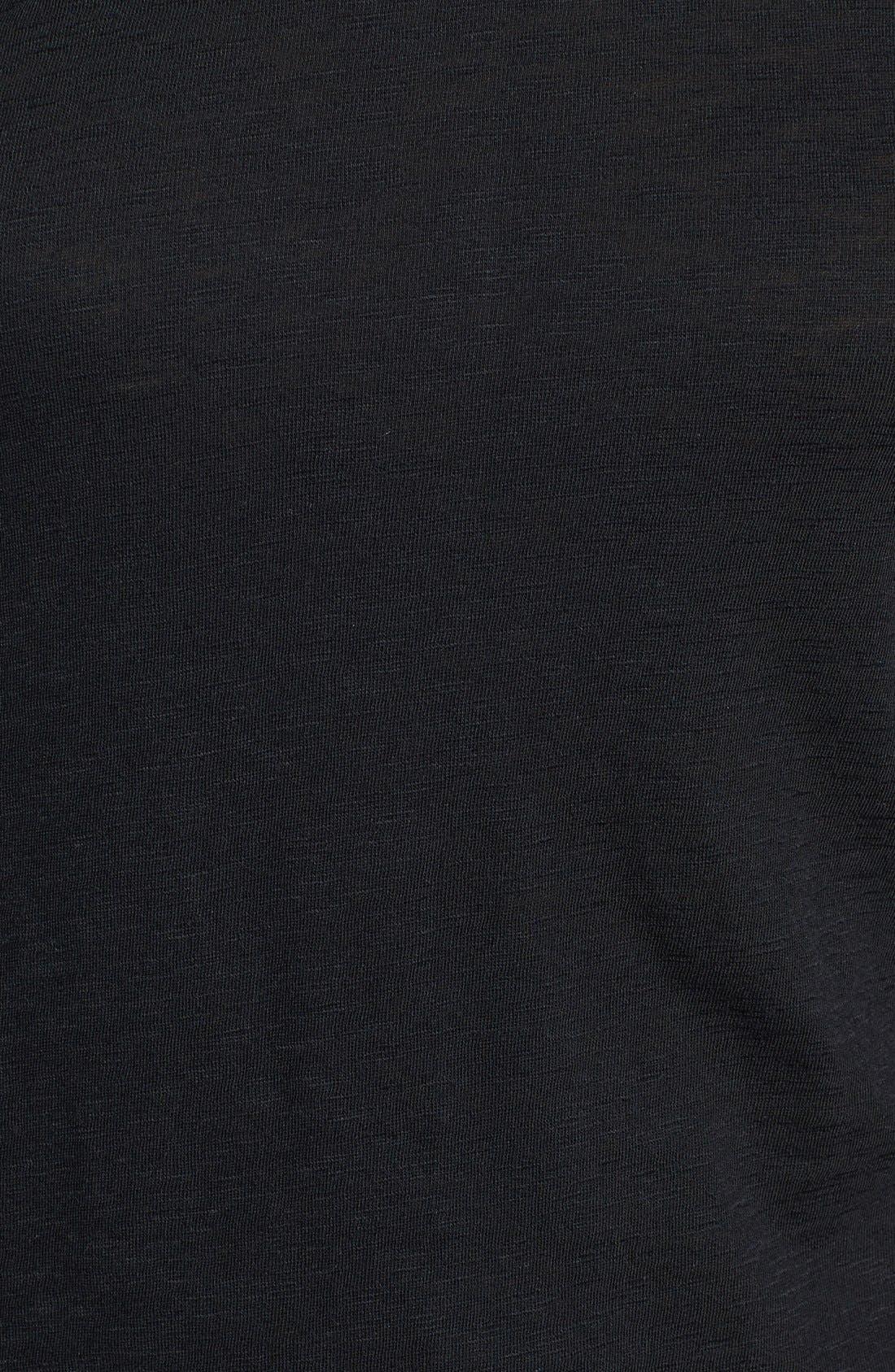 Long Sleeve Crewneck Tee,                             Alternate thumbnail 12, color,                             BLACK