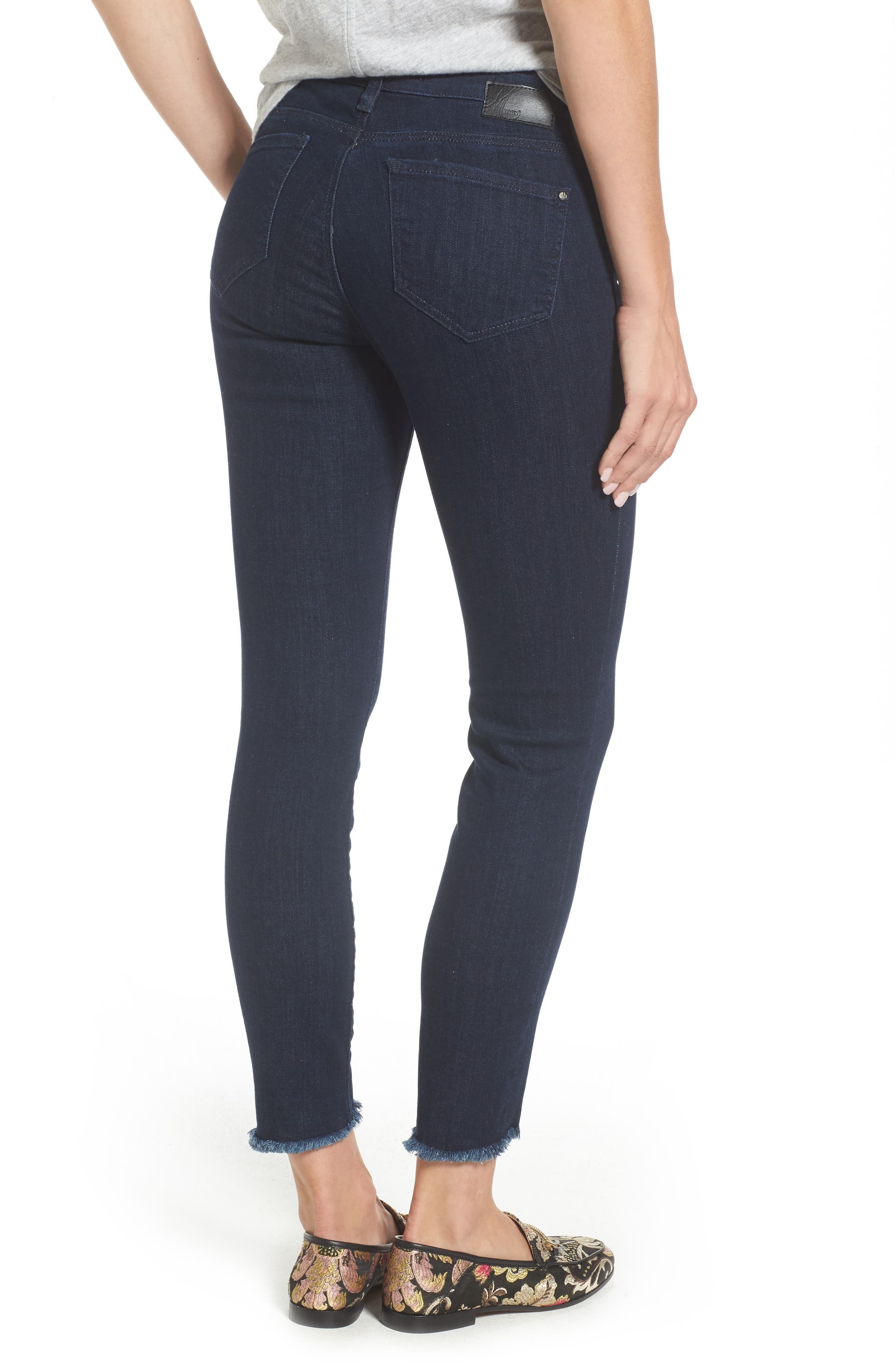 Adriana Ankle Skinny Jeans,                             Alternate thumbnail 2, color,                             RINSE TRIBECA