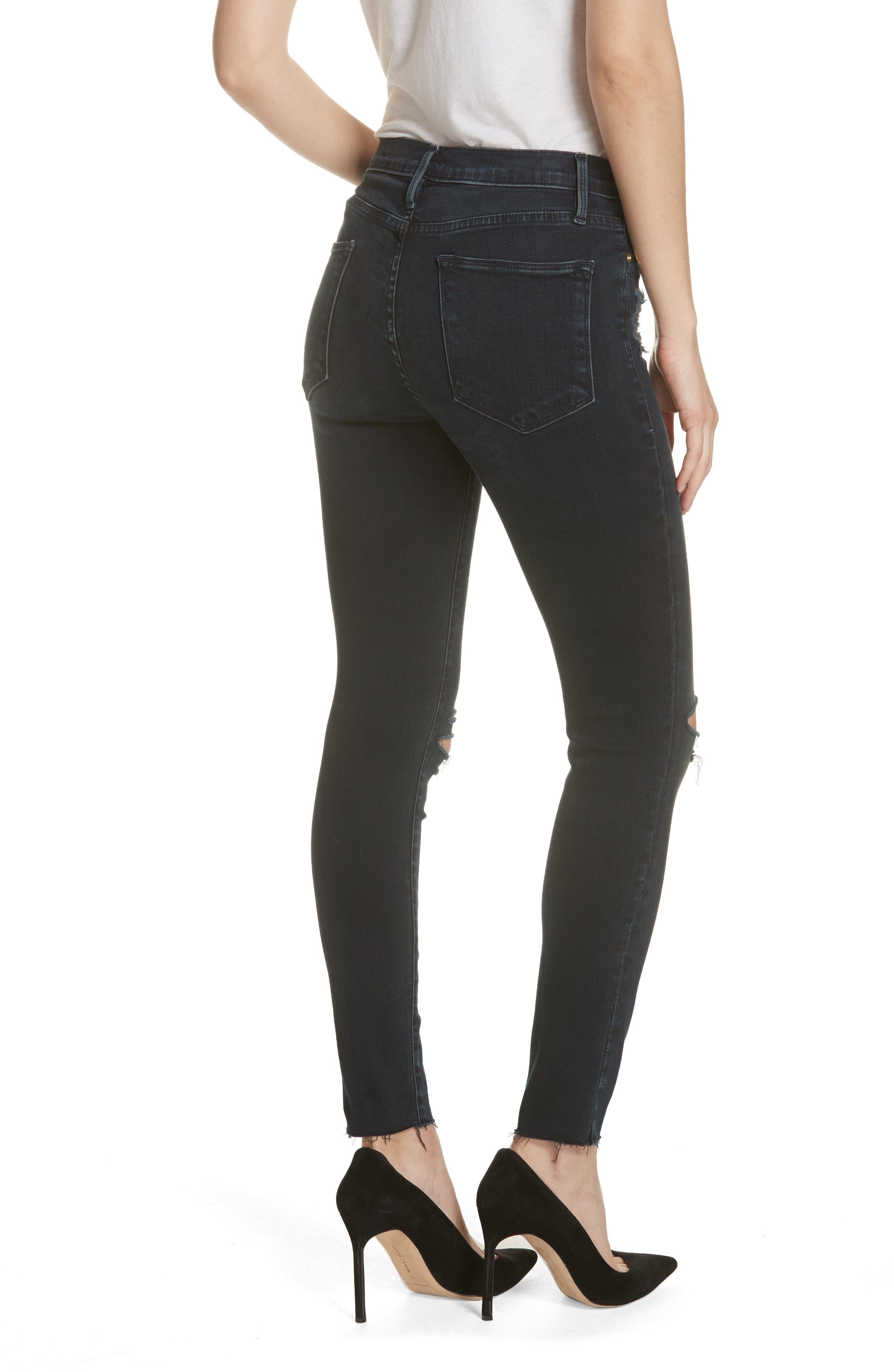 Le High Skinny Jeans,                             Alternate thumbnail 2, color,                             402