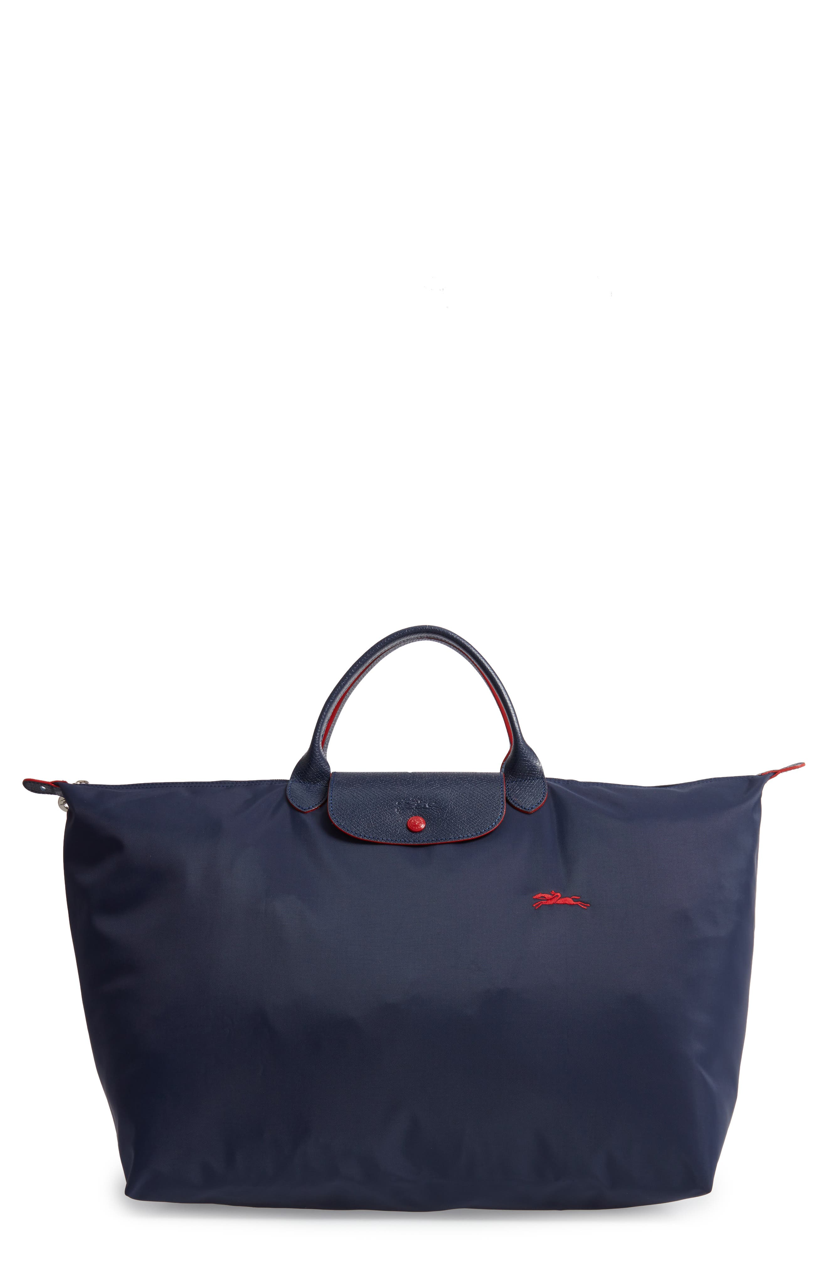 Le Pliage Club Large Nylon Canvas Travel Bag in New Navy
