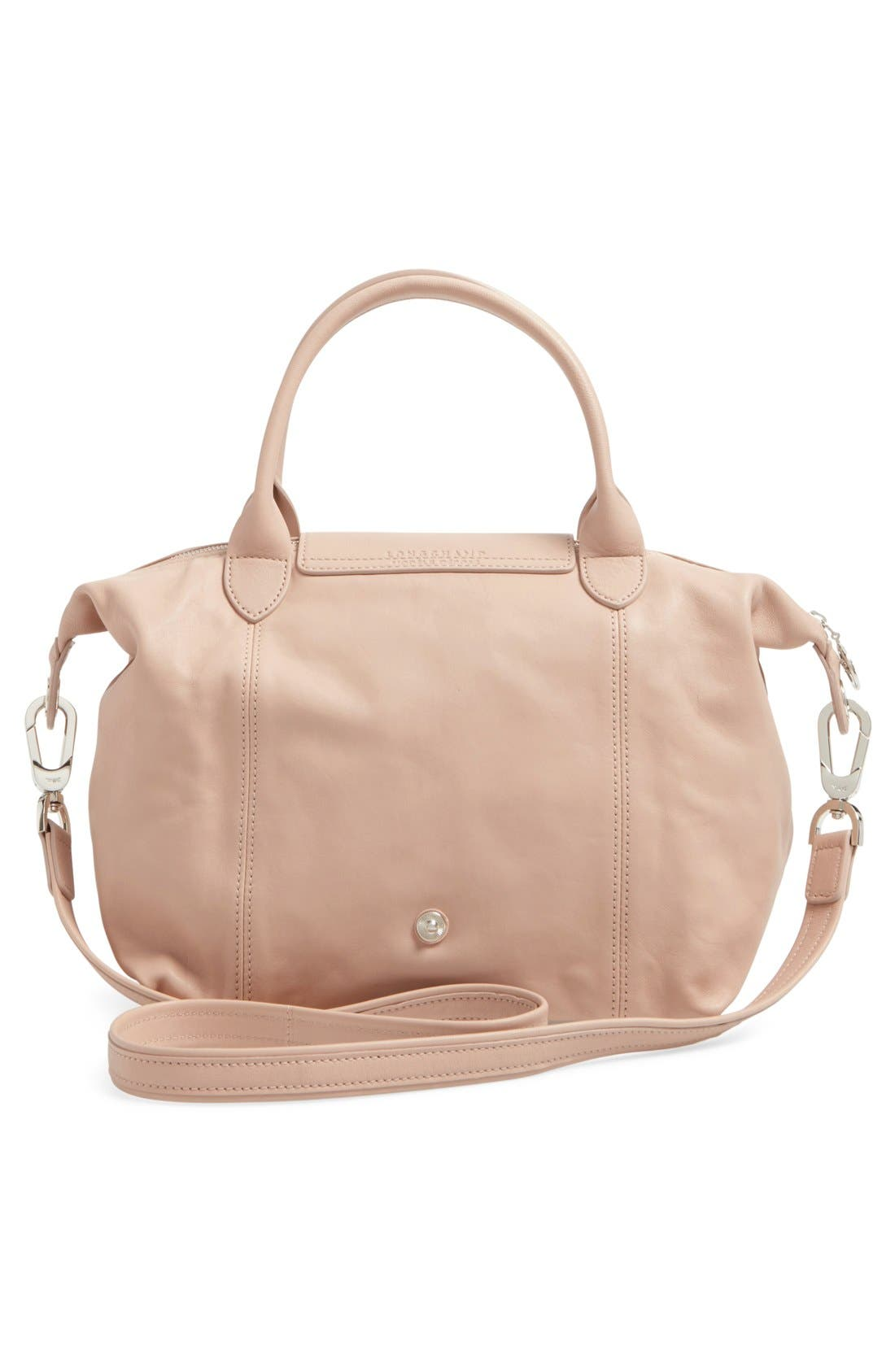 Small 'Le Pliage Cuir' Leather Top Handle Tote,                             Alternate thumbnail 48, color,