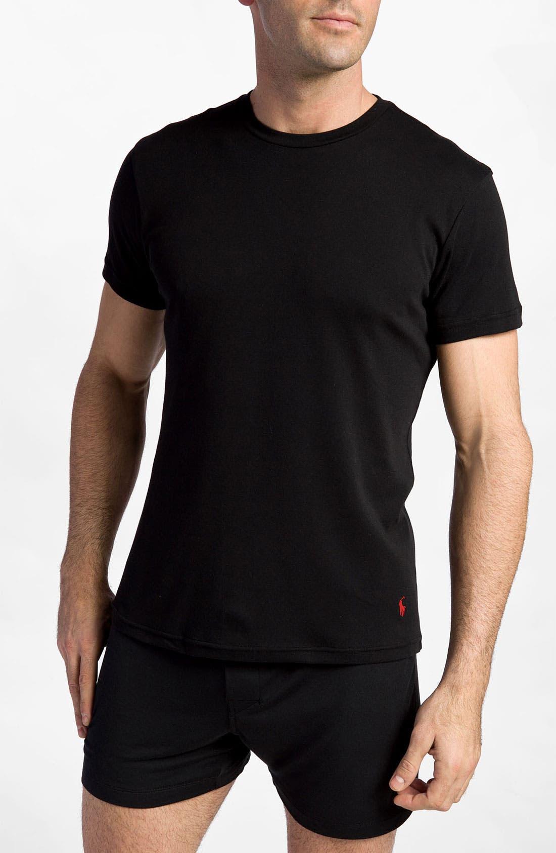 2-Pack Cotton Crewneck T-Shirt,                             Main thumbnail 1, color,                             001