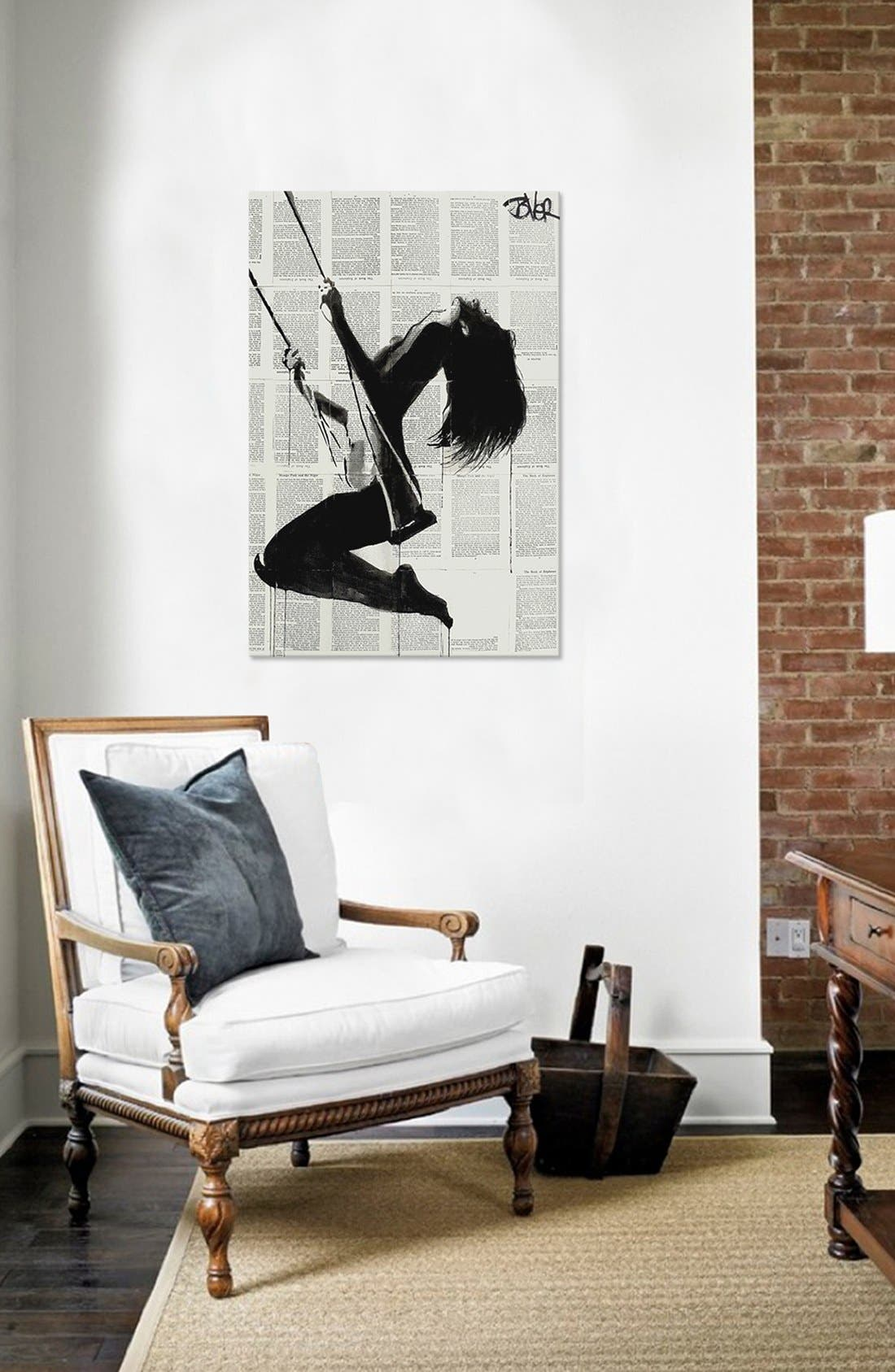 'The Lightness of Being Again' Giclée Print Canvas Art,                             Alternate thumbnail 2, color,                             GREY