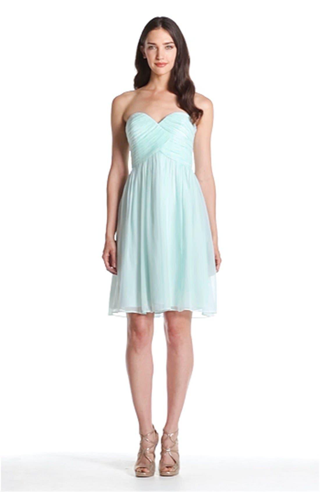 'Morgan' Strapless Silk Chiffon Dress,                             Alternate thumbnail 134, color,