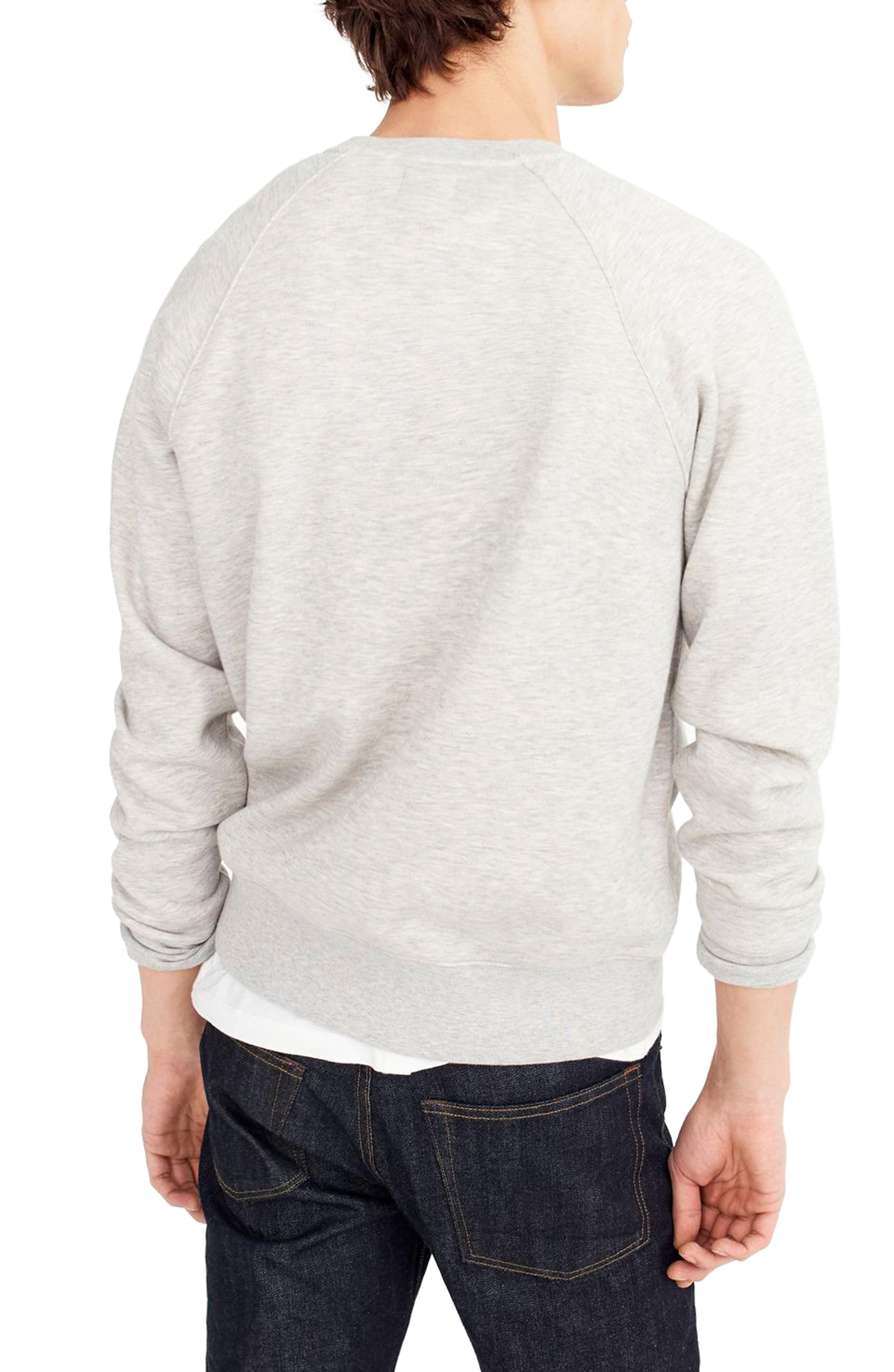 Textured Piqué Fleece Sweatshirt,                             Alternate thumbnail 2, color,                             020