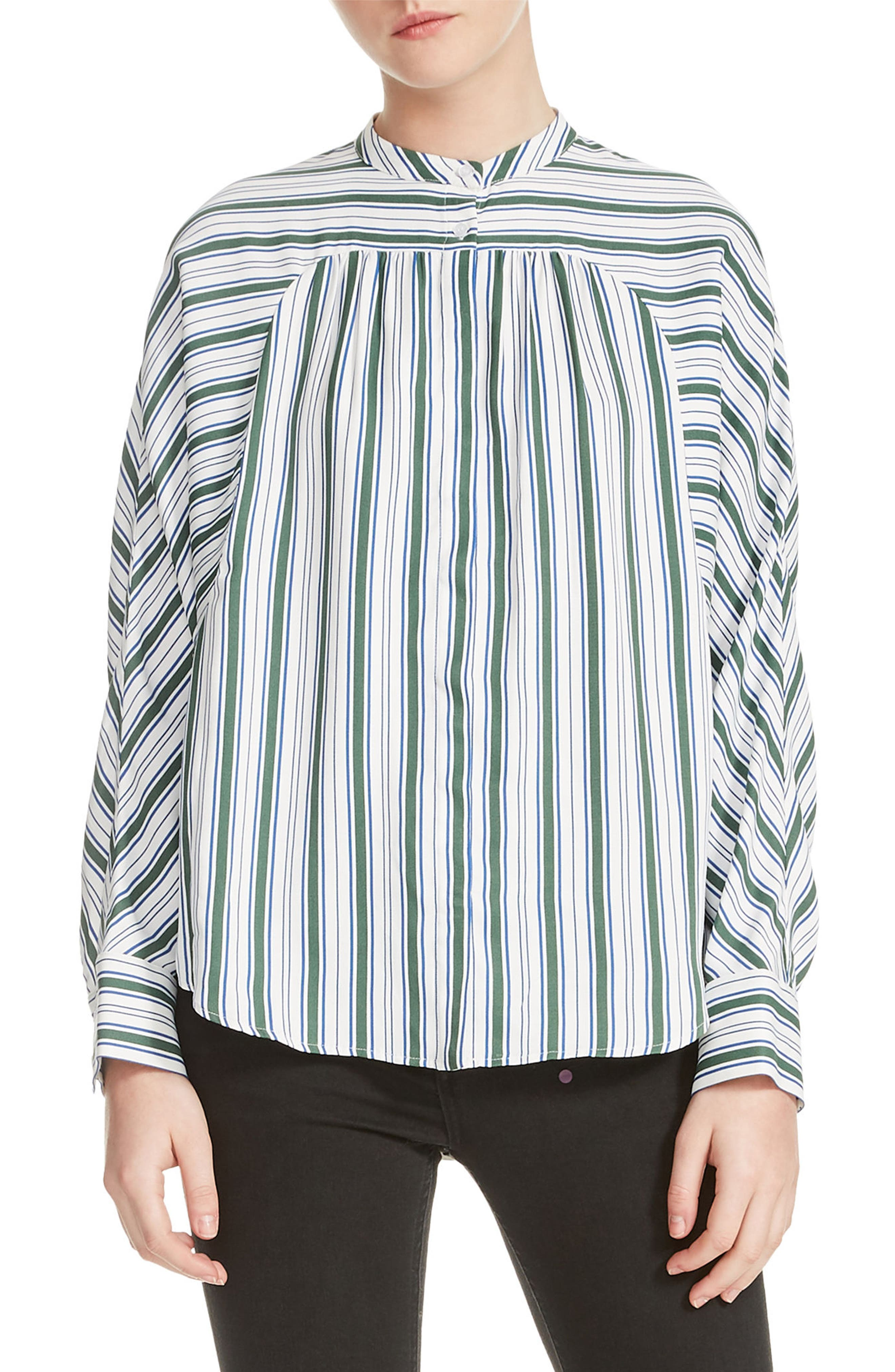 Coquille Stripe Blouse,                         Main,                         color, 400