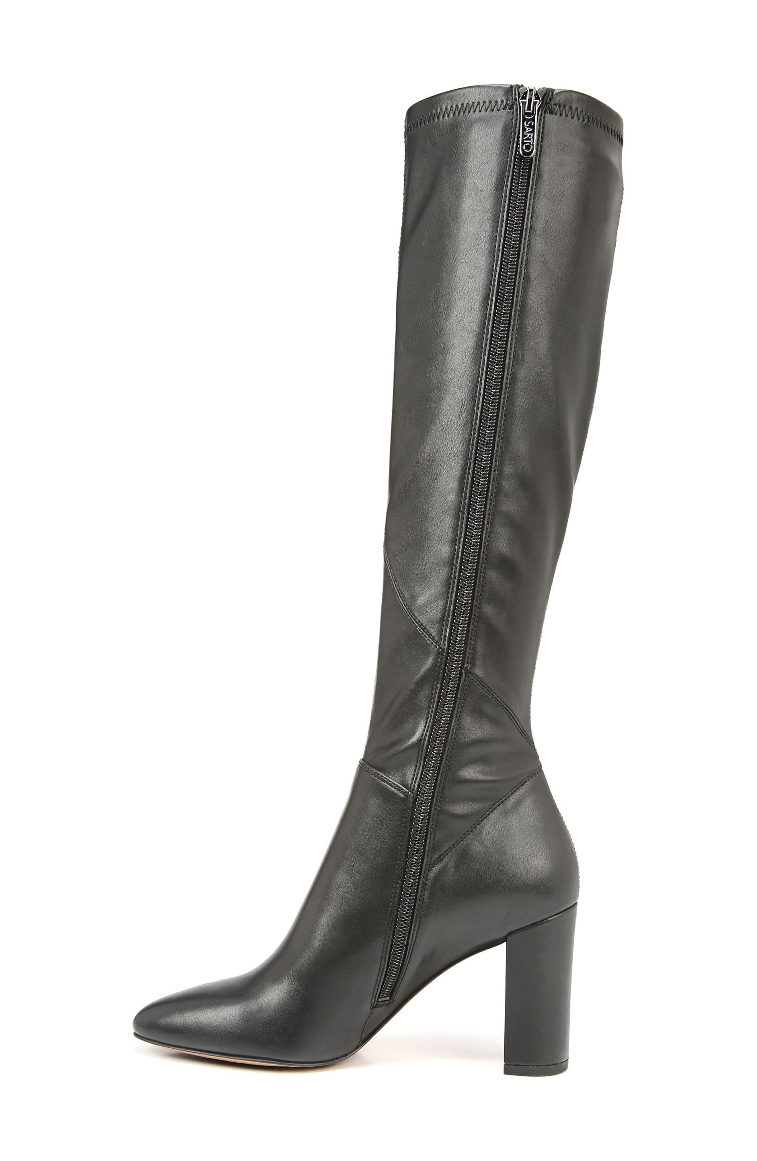 Flavia Knee High Boot,                             Alternate thumbnail 3, color,                             001