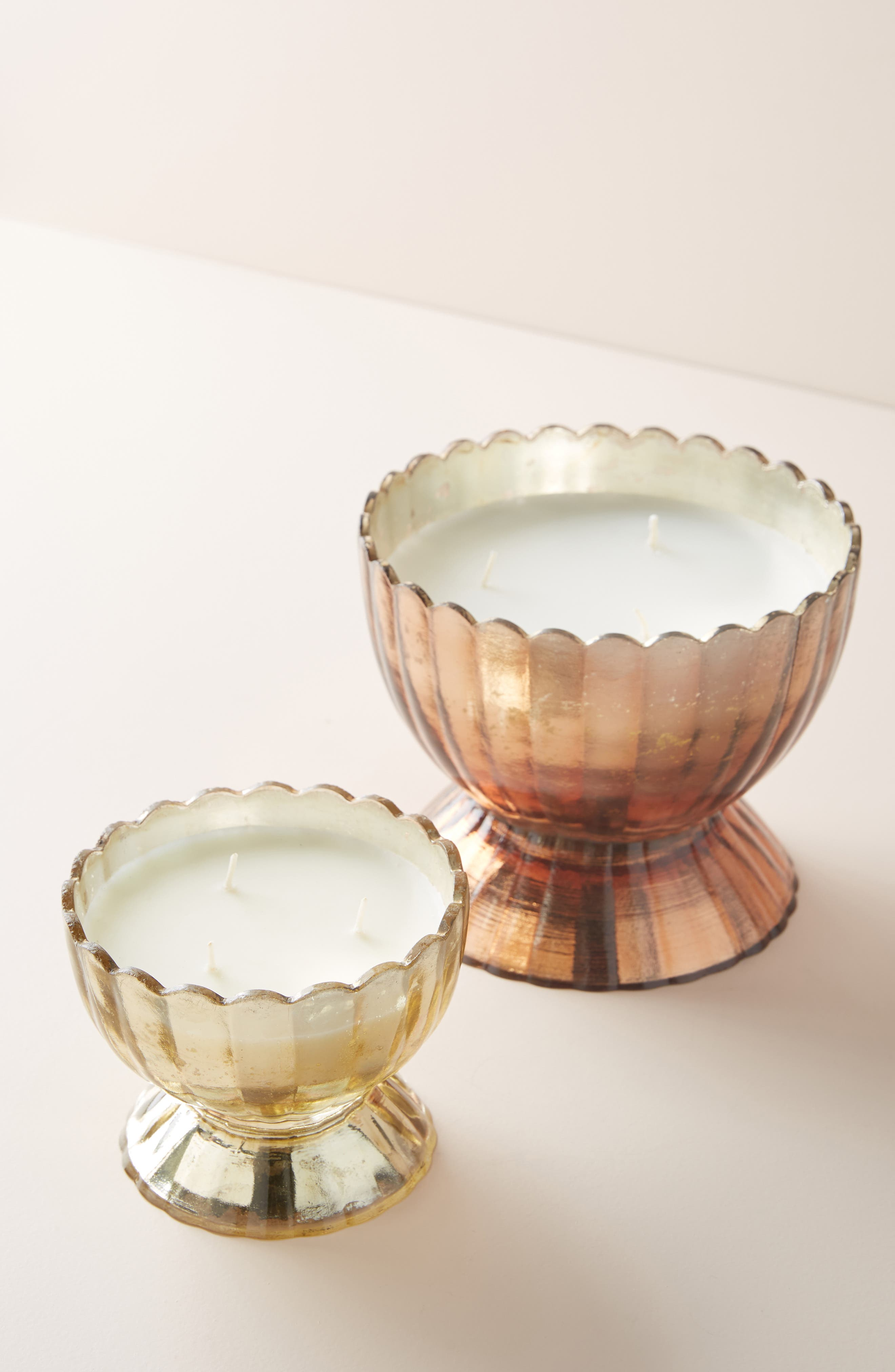 ANTHROPOLOGIE,                             Apricot Blossom Glass Flower Candle,                             Alternate thumbnail 2, color,                             APRICOT BLOSSOM