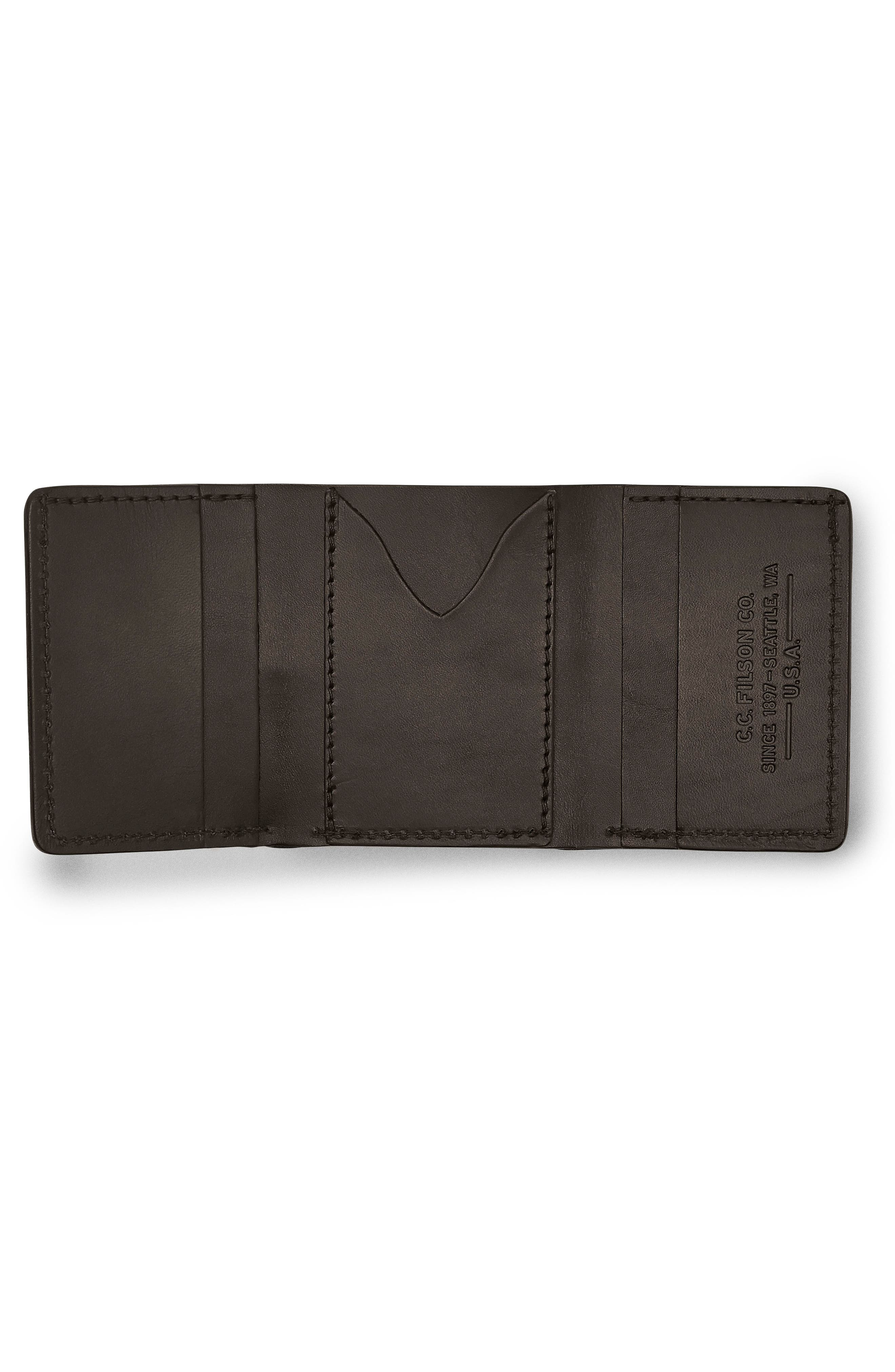 Leather Trifold Leather Wallet,                             Alternate thumbnail 6, color,