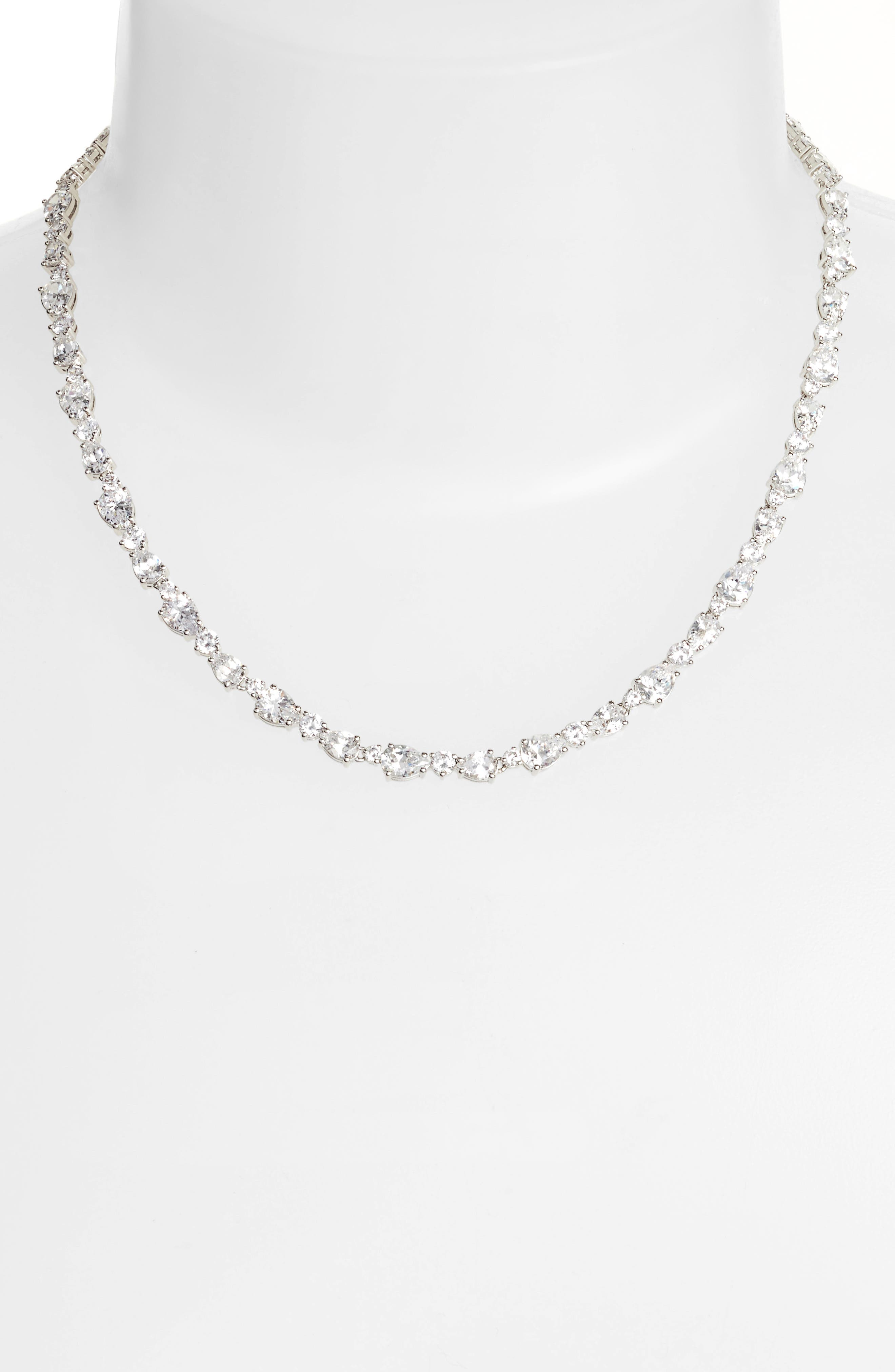 Ava Crystal Collar Necklace,                             Alternate thumbnail 2, color,                             040