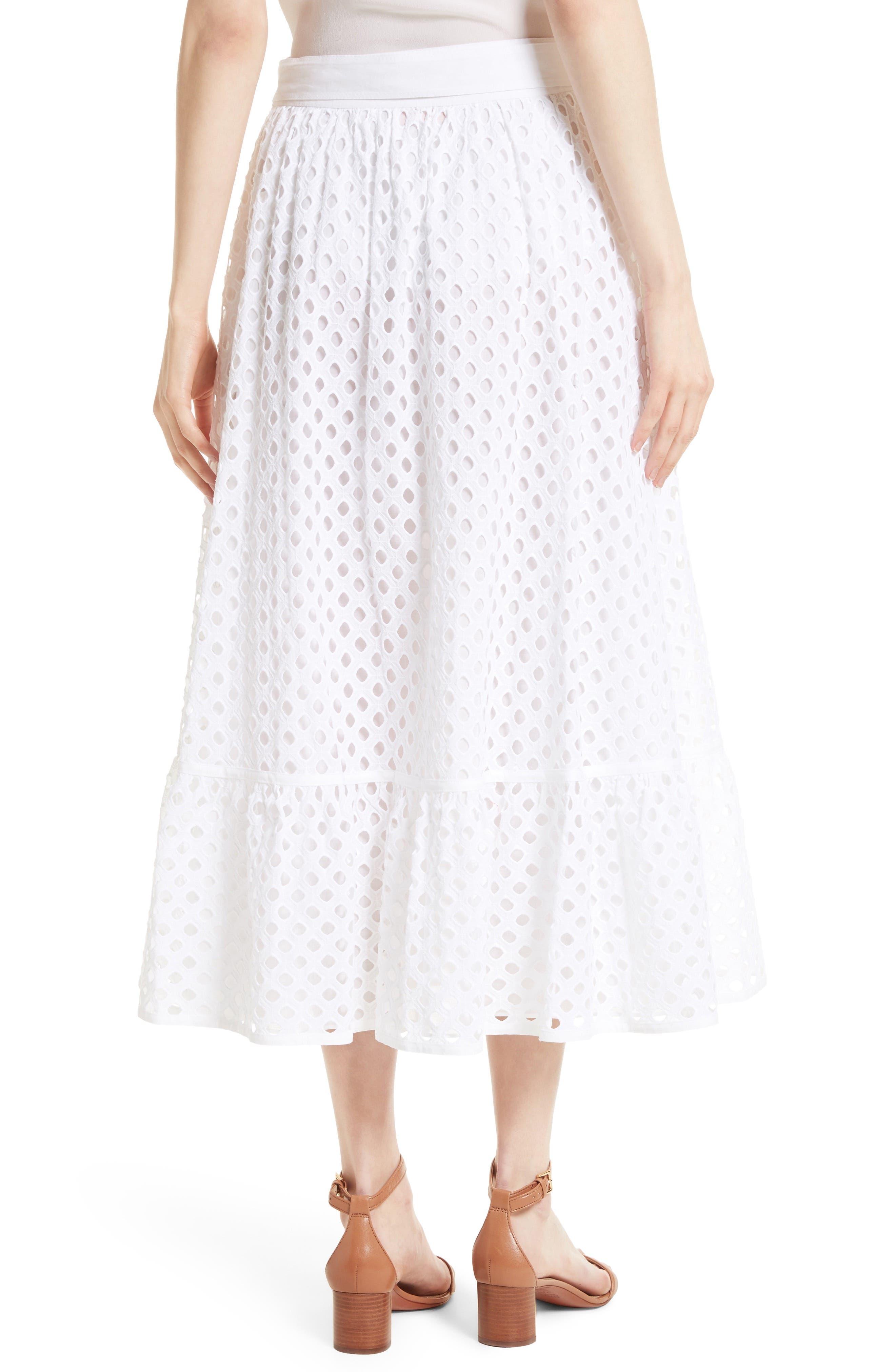 Hermosa Eyelet Midi Skirt,                         Main,                         color, 100