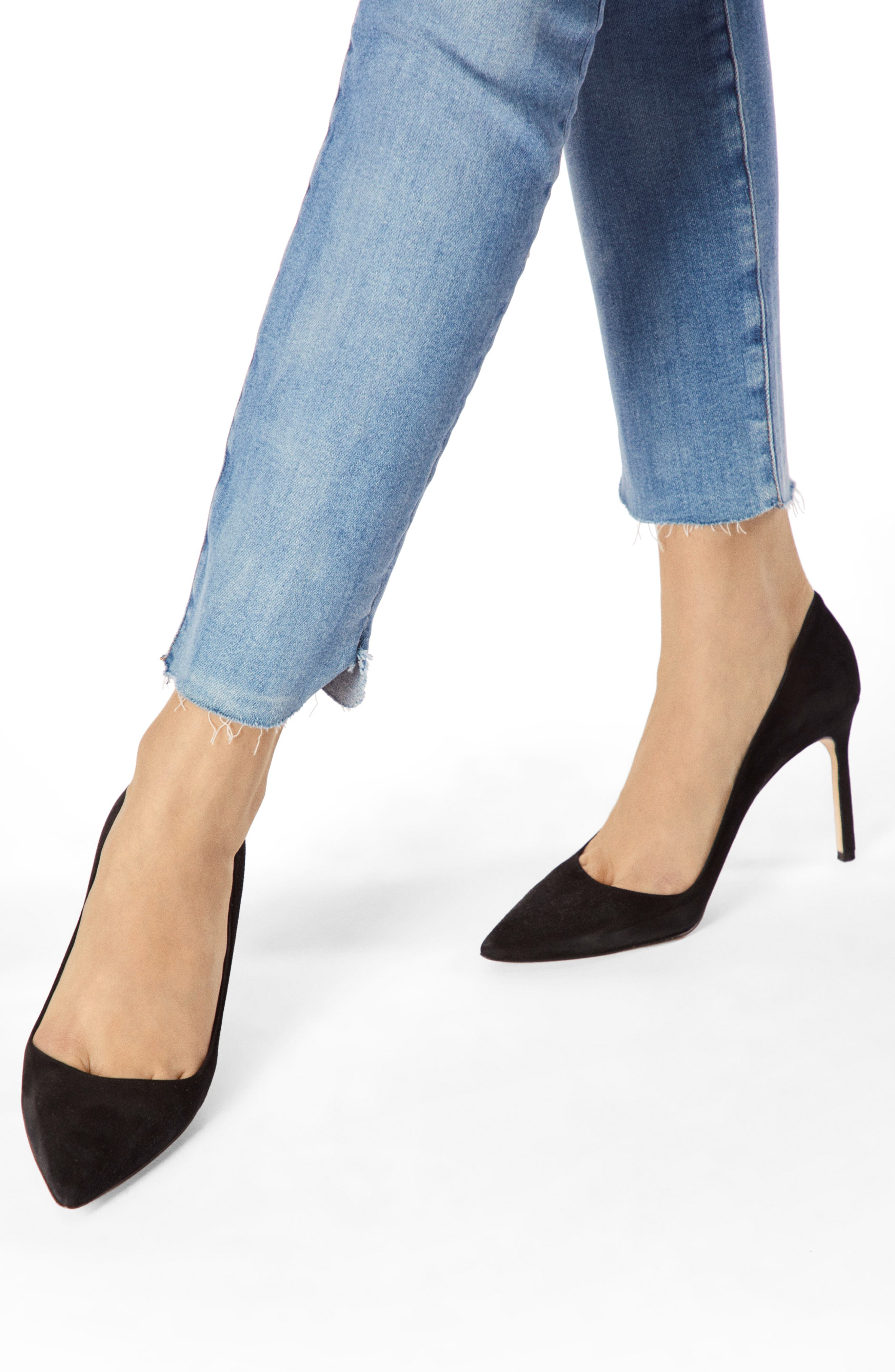 811 Raw Hem Ankle Skinny Jeans,                             Alternate thumbnail 4, color,                             RADIATE