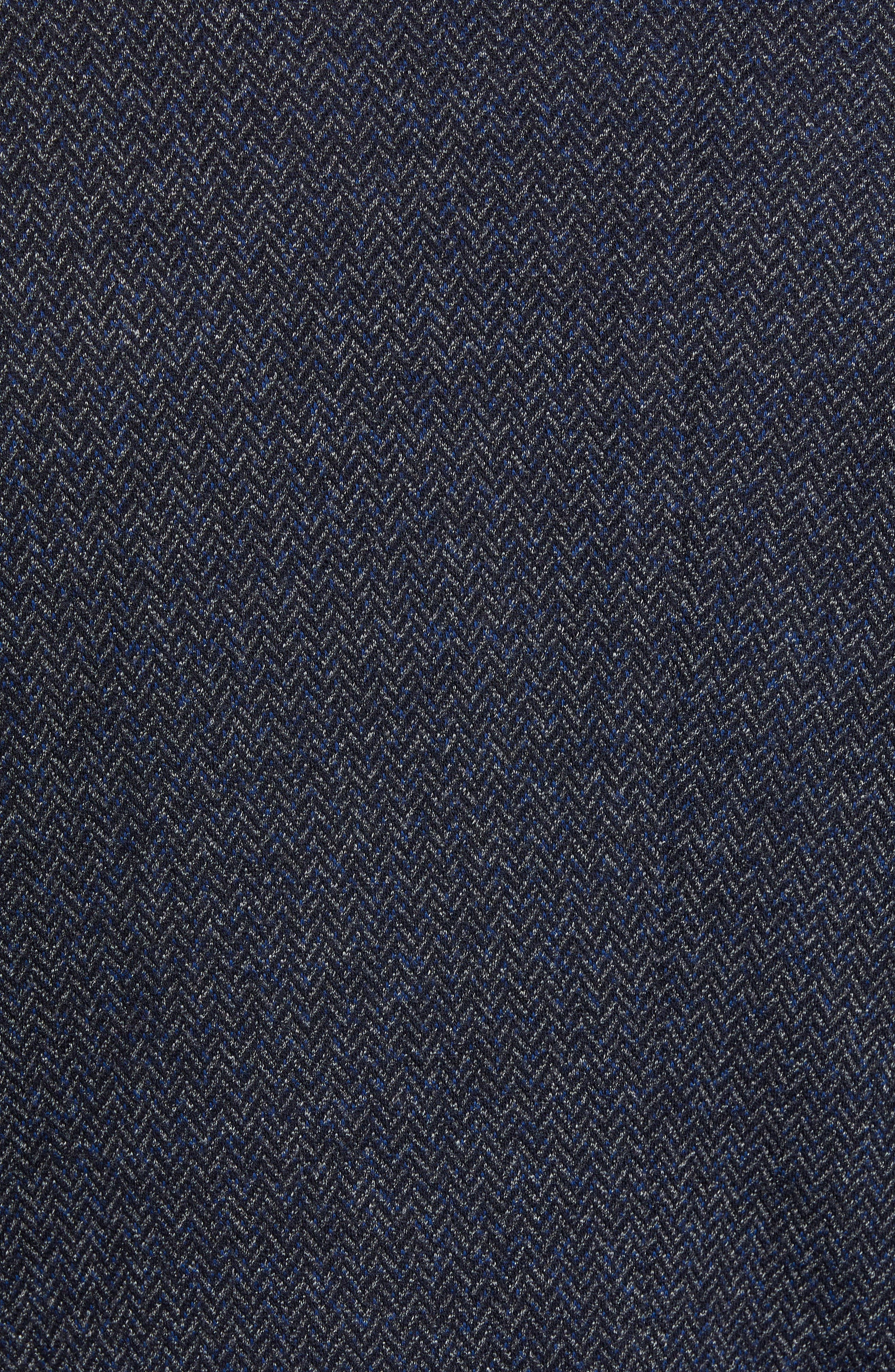 Cotton & Wool Blazer,                             Alternate thumbnail 6, color,                             NIGHT BLUE