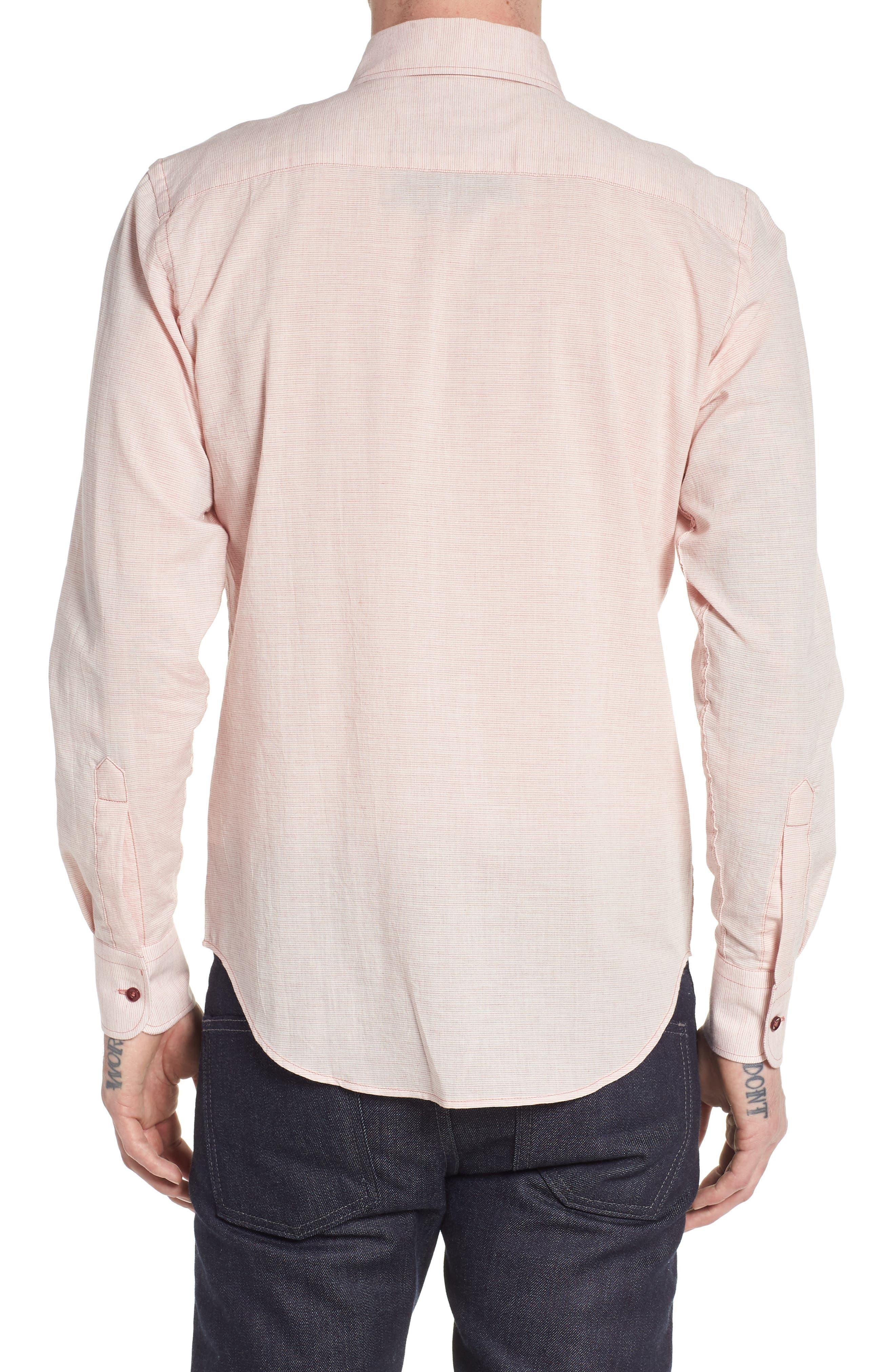Naked & Famous Summer Gauze Mini Stripe Shirt,                             Alternate thumbnail 2, color,                             600