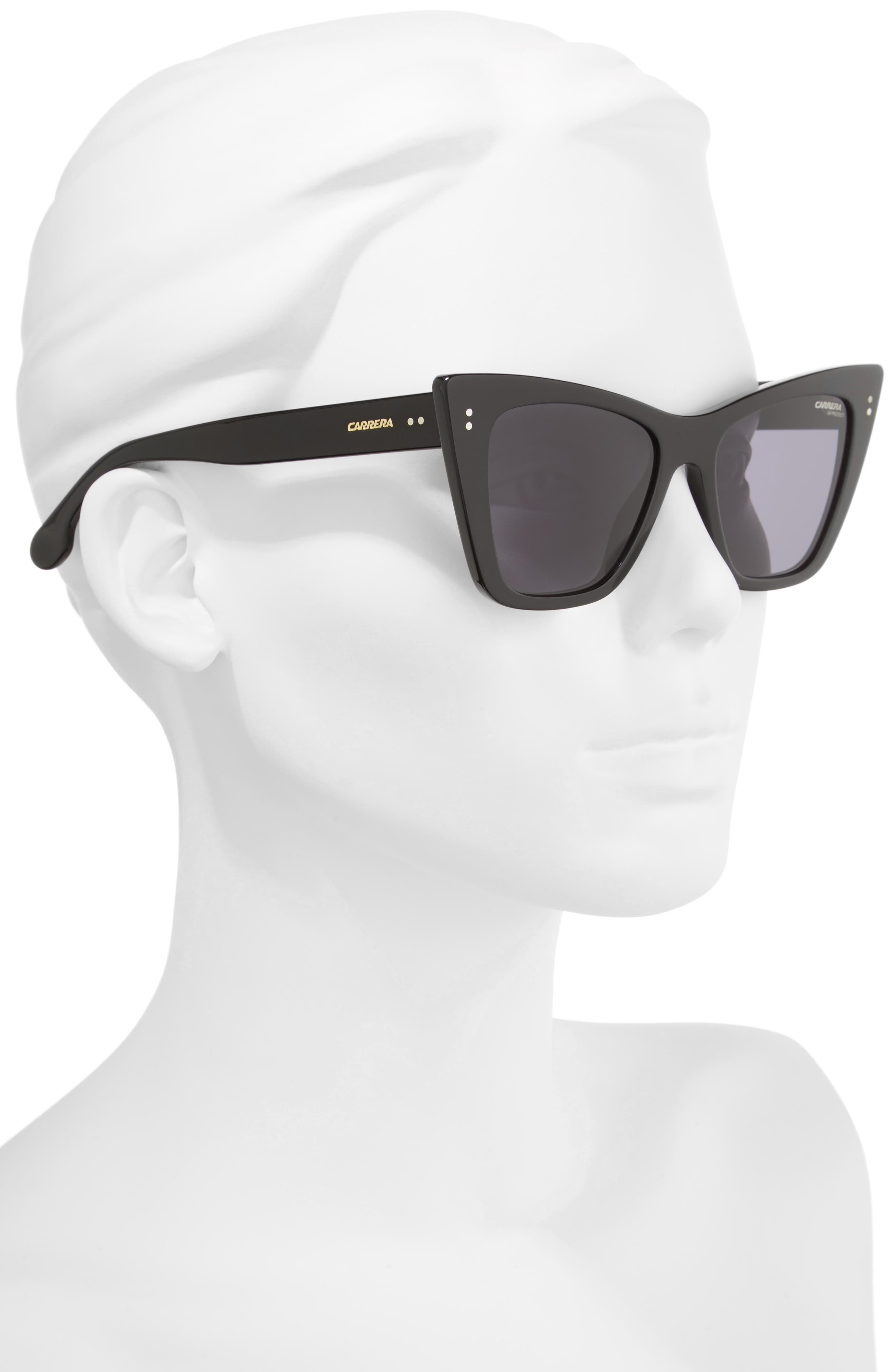 52mm Cat Eye Sunglasses,                             Alternate thumbnail 2, color,                             001