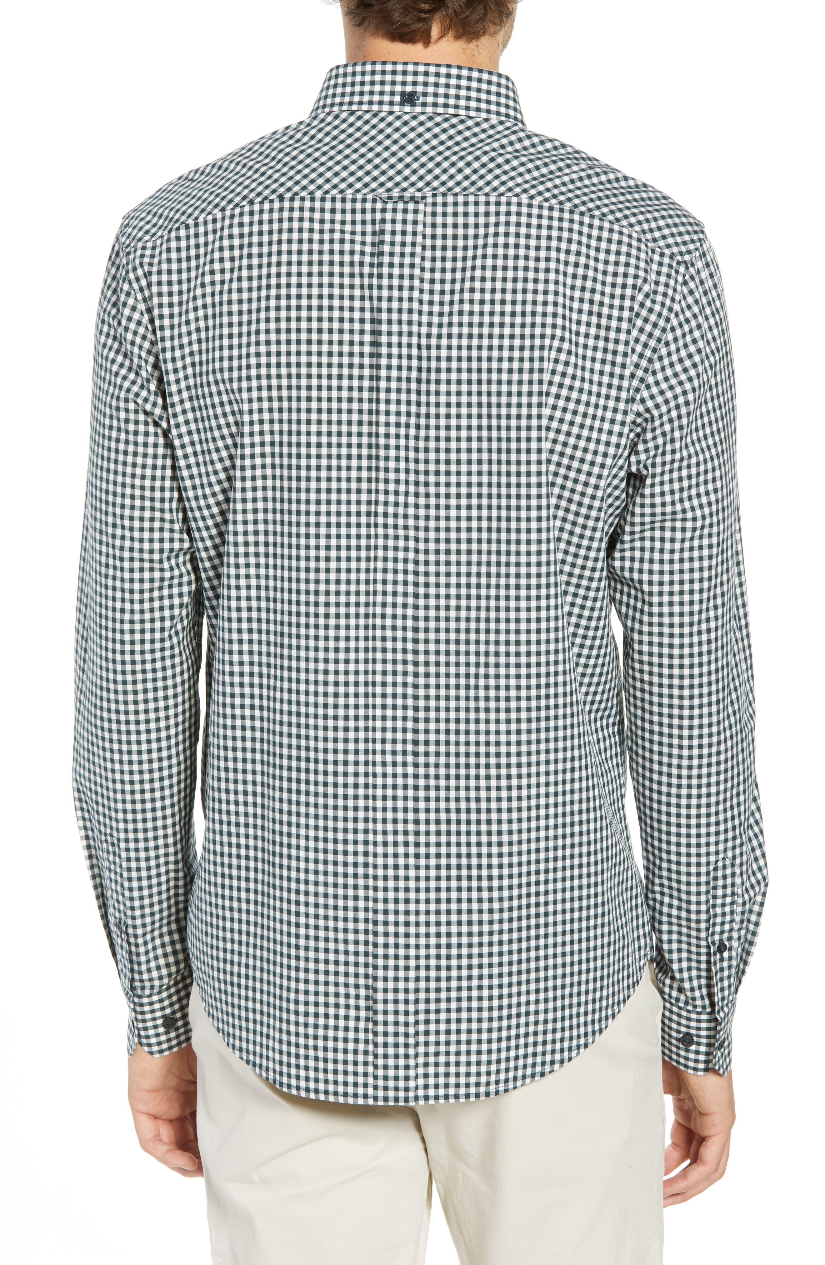 Mod Fit Gingham Sport Shirt,                             Alternate thumbnail 2, color,                             301