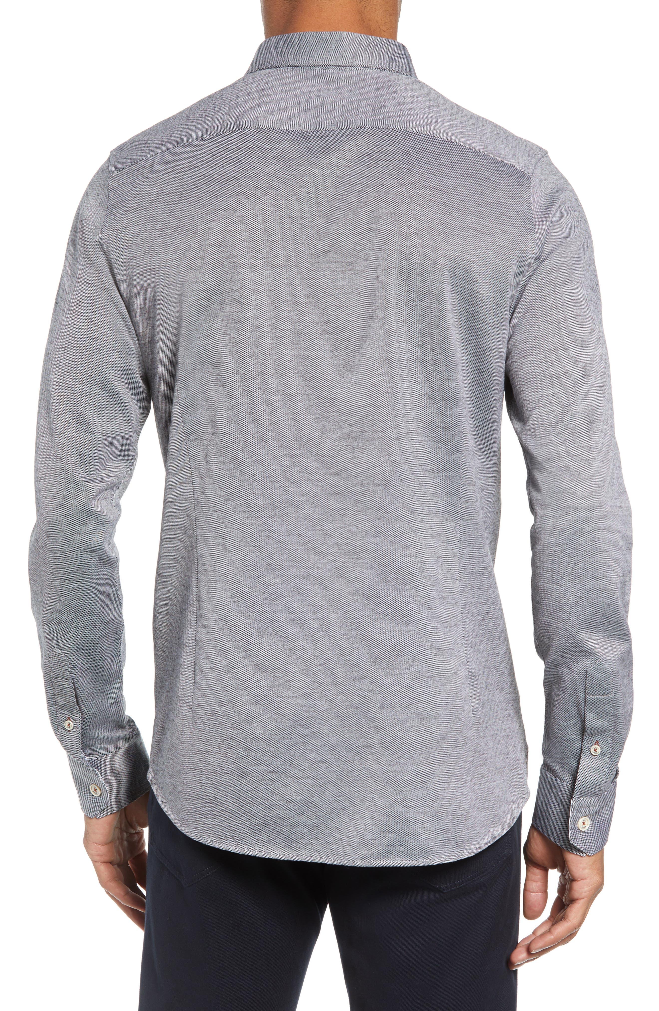 Timothy Slim Fit Cotton Jersey Shirt,                             Alternate thumbnail 2, color,                             BLACK