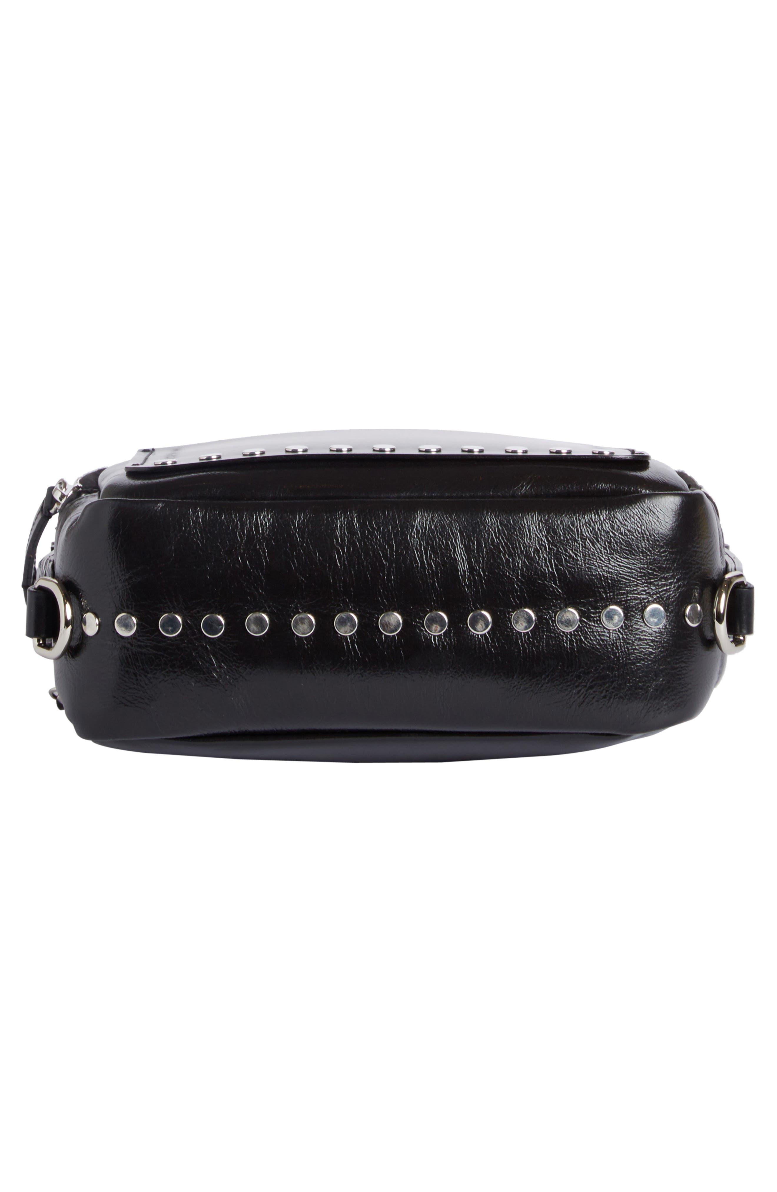 Tinley Studded Leather Crossbody Bag,                             Alternate thumbnail 4, color,                             003