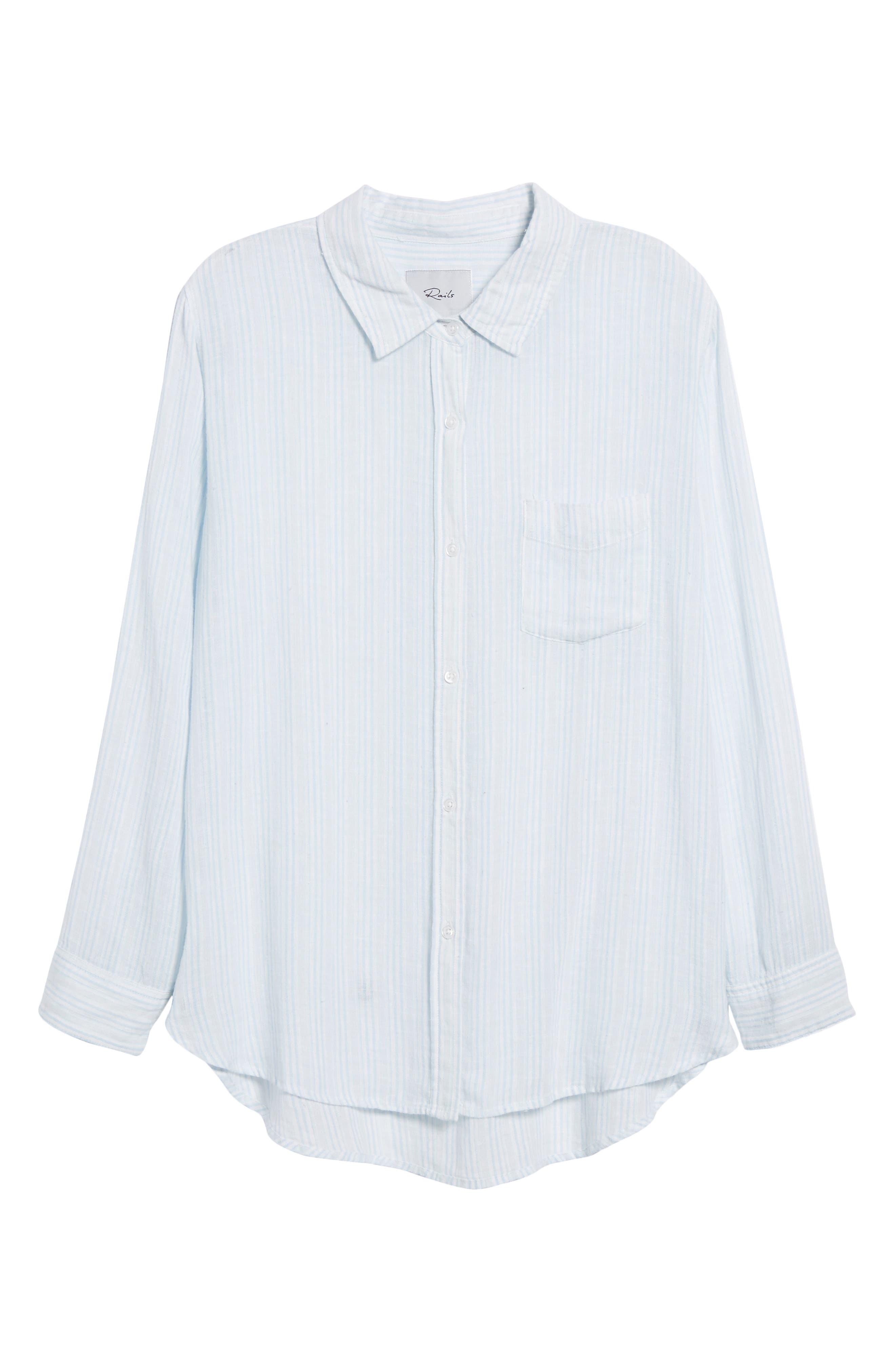 Charli Stripe Shirt,                             Alternate thumbnail 6, color,
