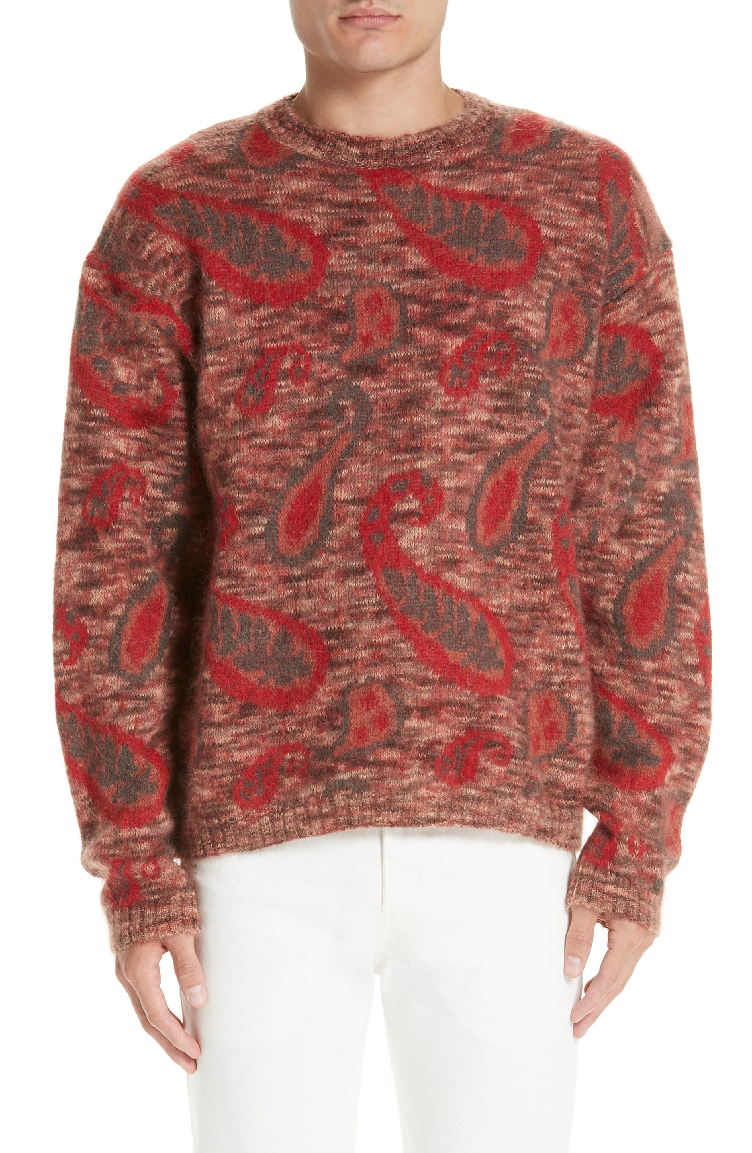 Mohair Blend Paisley Sweater,                             Main thumbnail 1, color,                             600