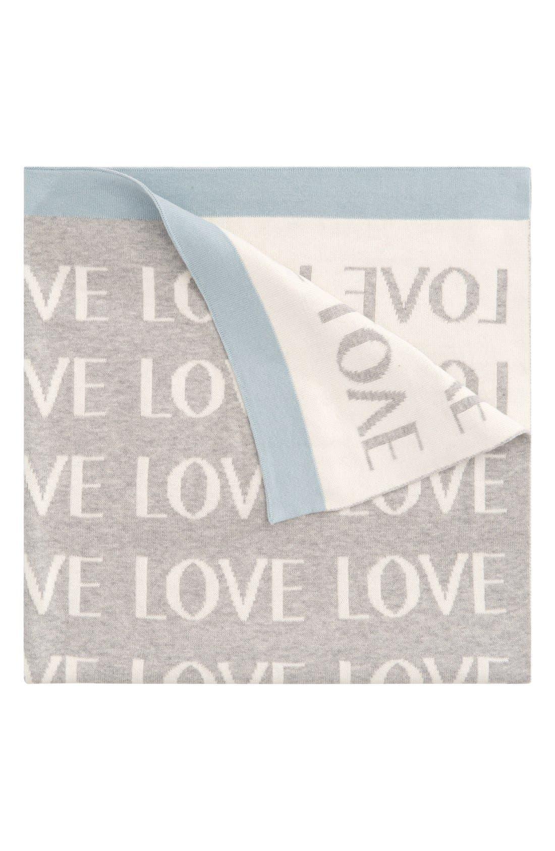 'Love' Knit Blanket,                             Main thumbnail 1, color,                             450