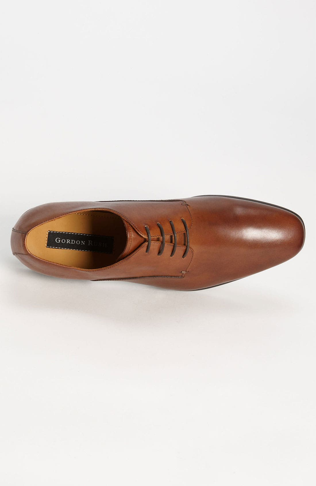 GORDON RUSH,                             'Manning' Derby,                             Alternate thumbnail 3, color,                             COGNAC LEATHER