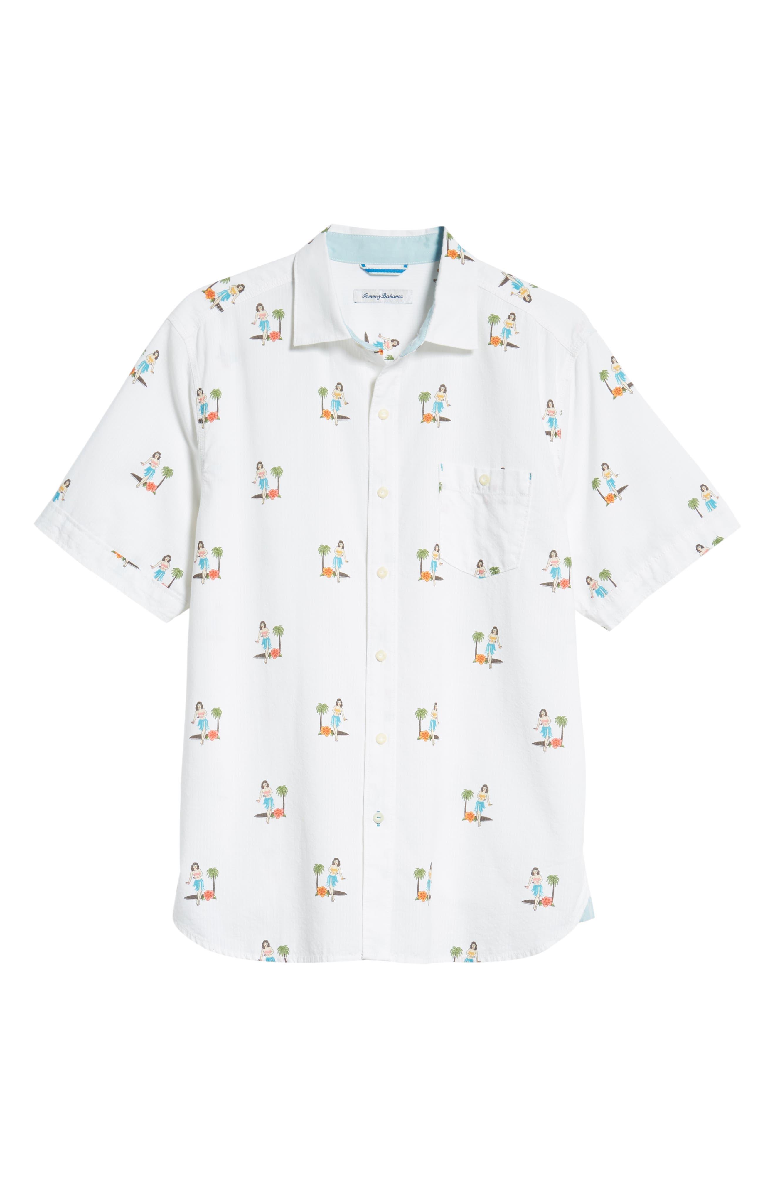 Hula Oasis Regular Fit Sport Shirt,                             Alternate thumbnail 5, color,                             100