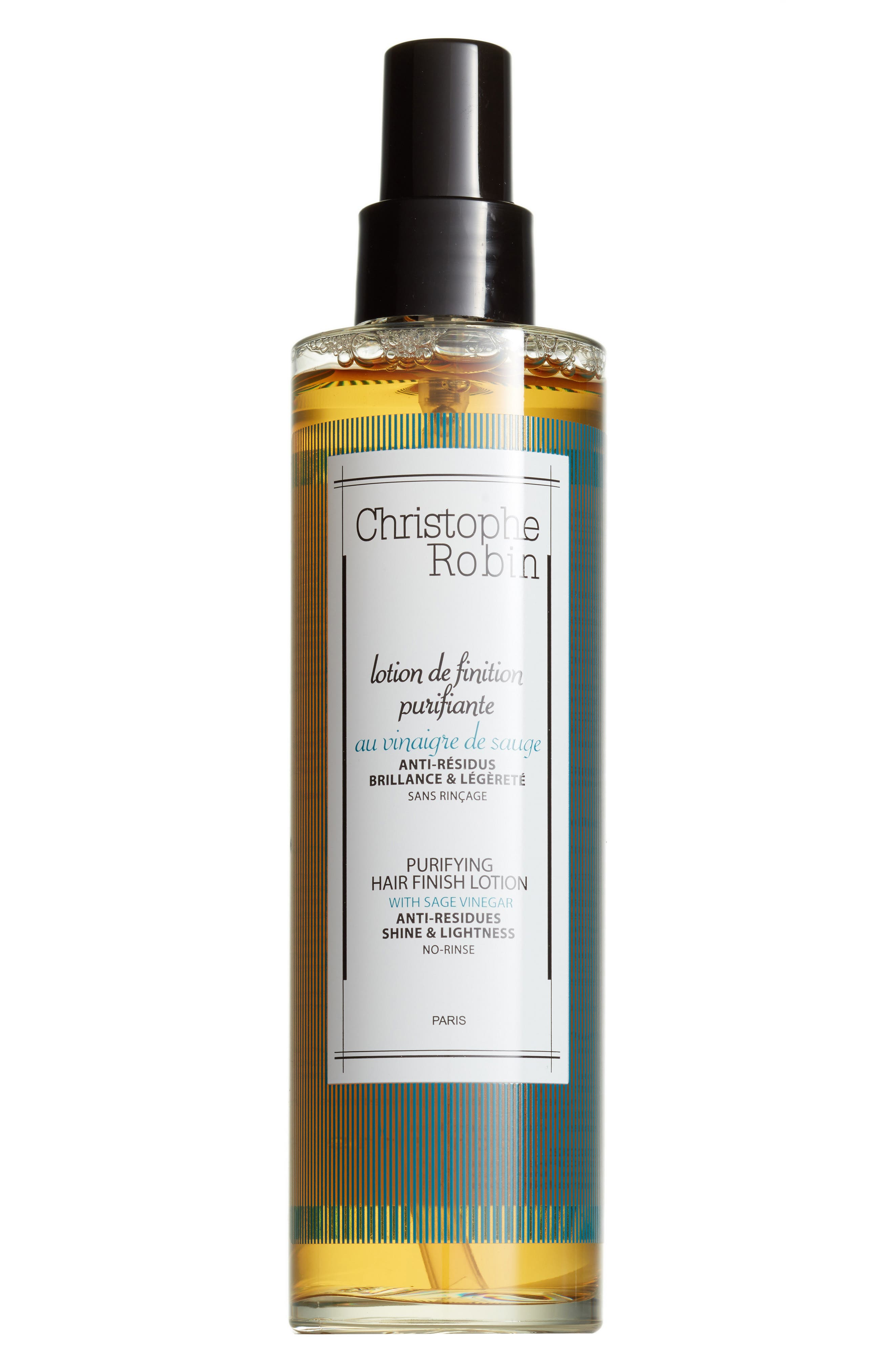 CHRISTOPHE ROBIN,                             SPACE.NK.apothecary Christophe Robin Purifying Hair Finish Lotion with Sage Vinegar,                             Main thumbnail 1, color,                             NO COLOR