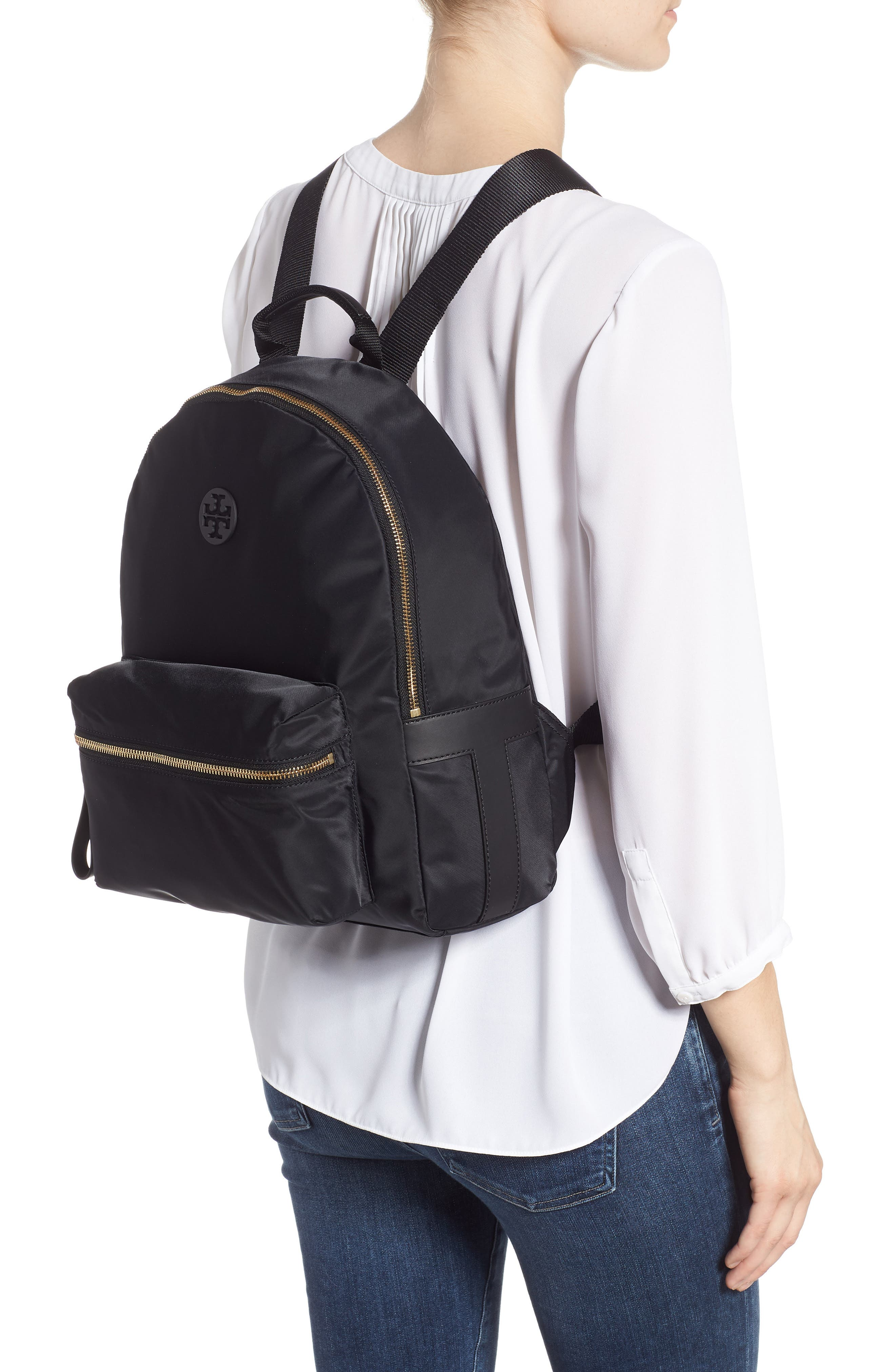 Tilda Nylon Backpack,                             Alternate thumbnail 2, color,                             001