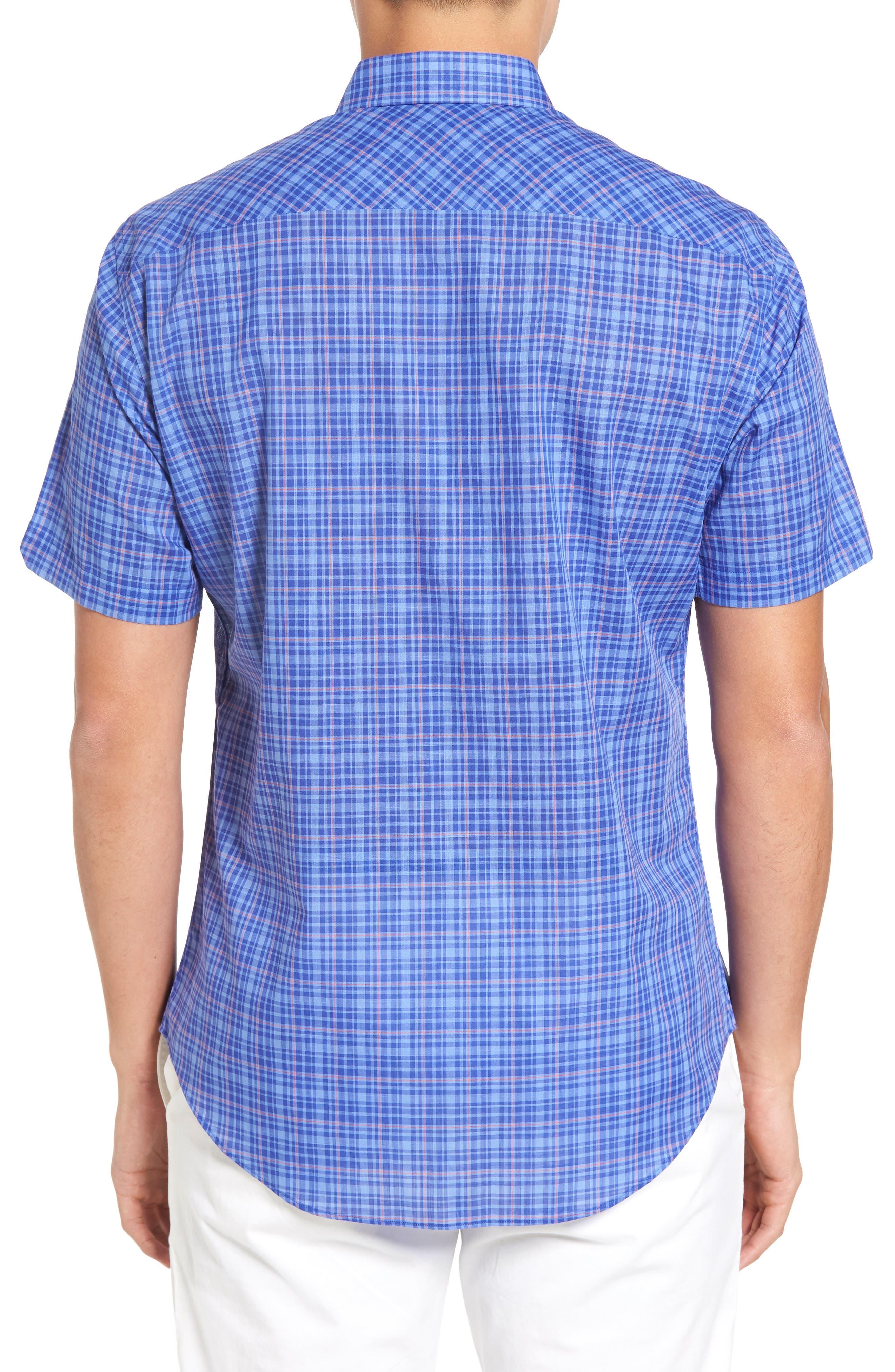 ZACHARY PRELL,                             Shammas Plaid Sport Shirt,                             Alternate thumbnail 2, color,                             432