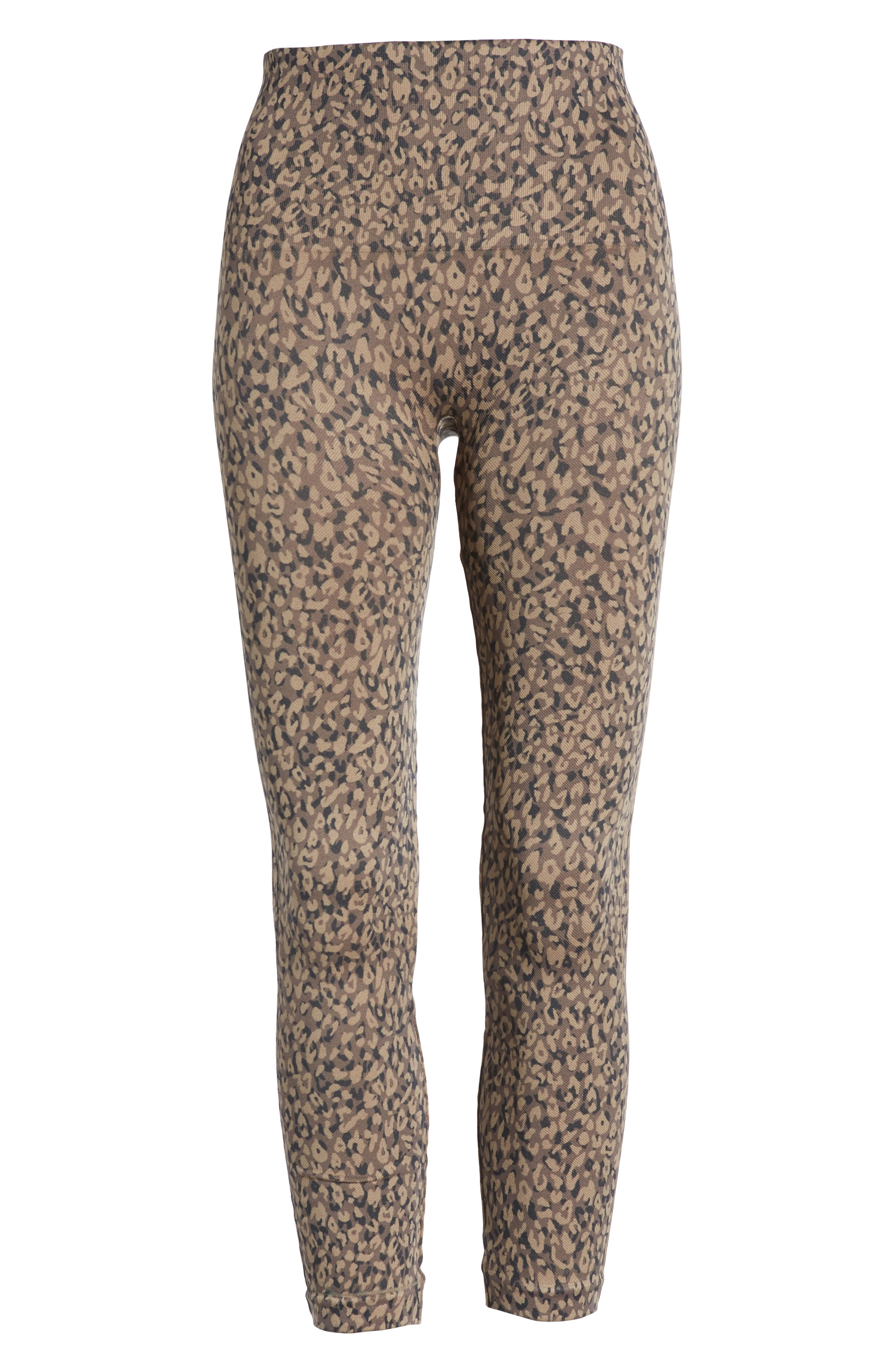 Look at Me Now' Seamless Leggings,                             Alternate thumbnail 7, color,                             MINI LEOPARD