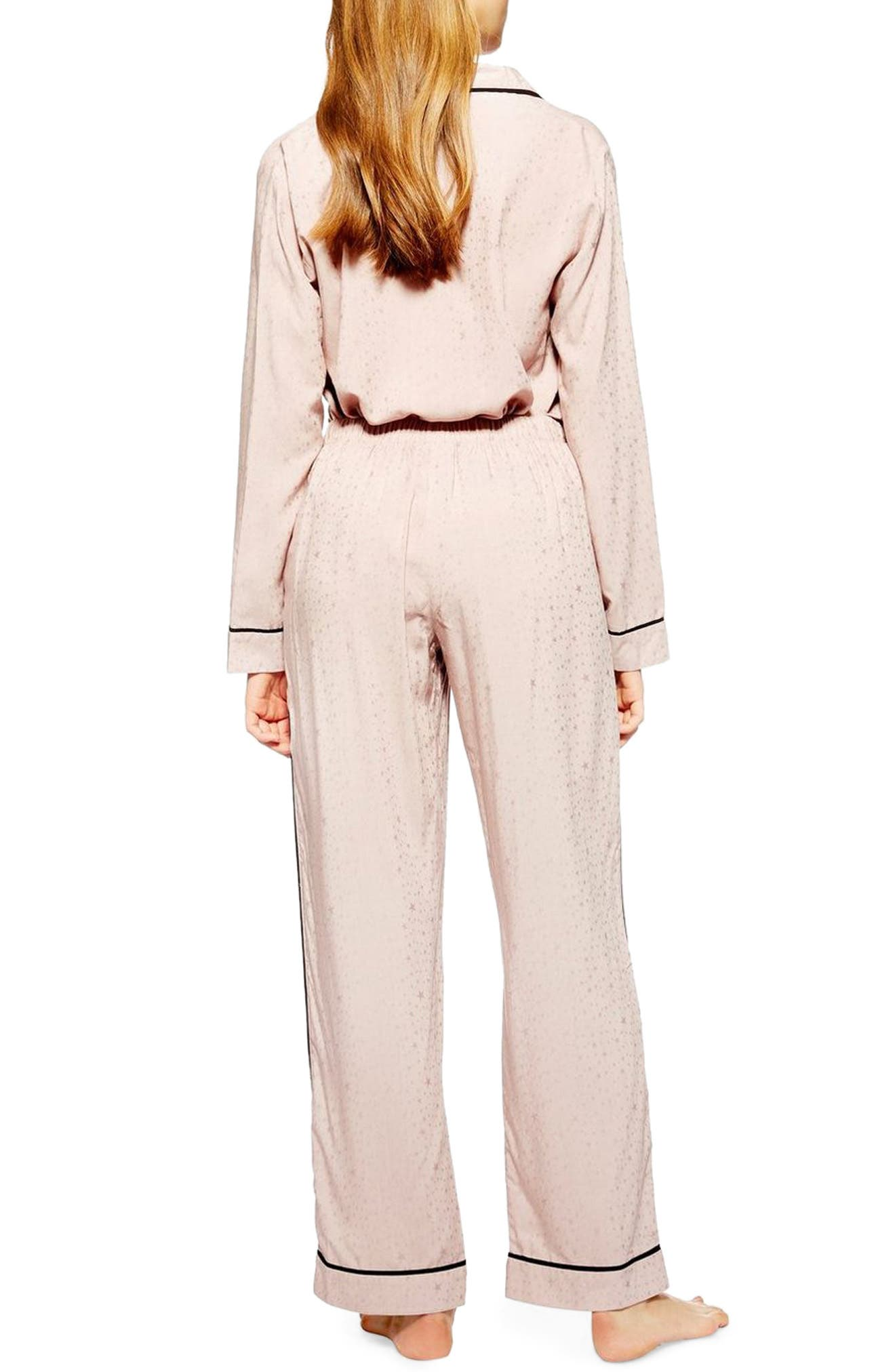 Star Jacquard Pajama Pants,                             Alternate thumbnail 2, color,                             NUDE MULTI