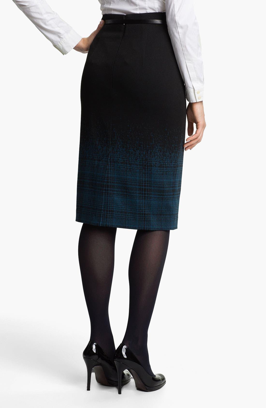 Belted Ponte Skirt,                             Alternate thumbnail 31, color,