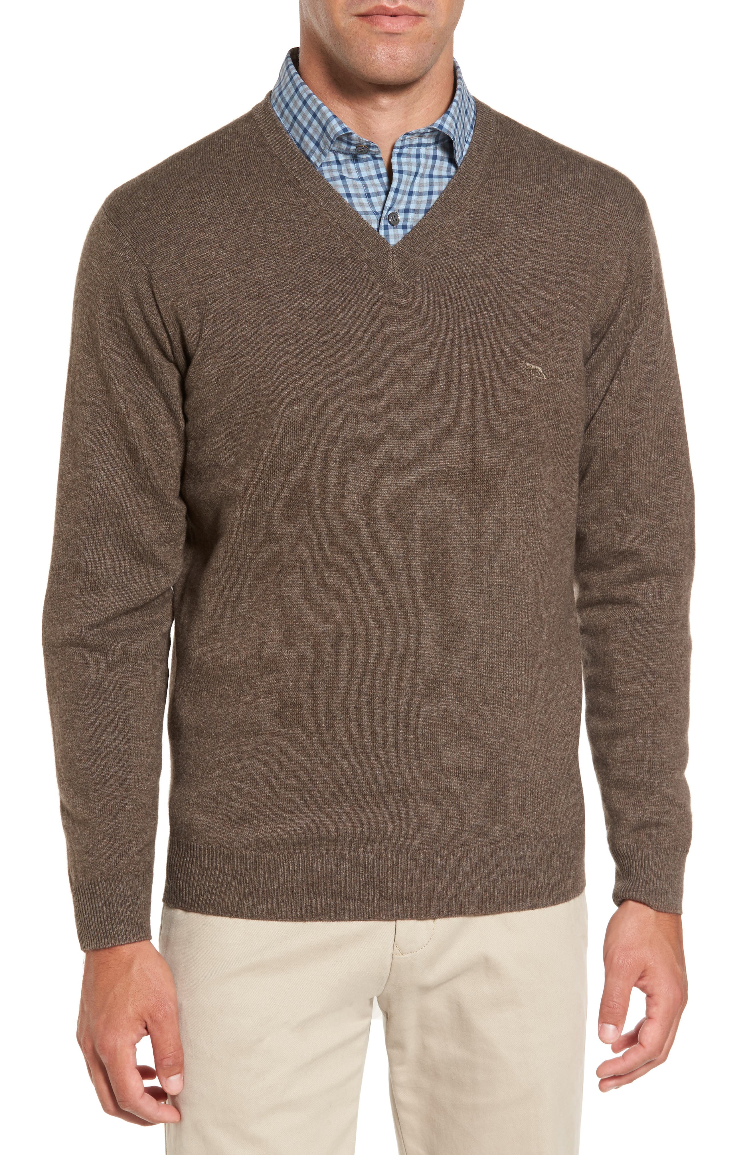 'Inchbonnie' Wool & Cashmere V-Neck Sweater,                             Main thumbnail 1, color,                             218