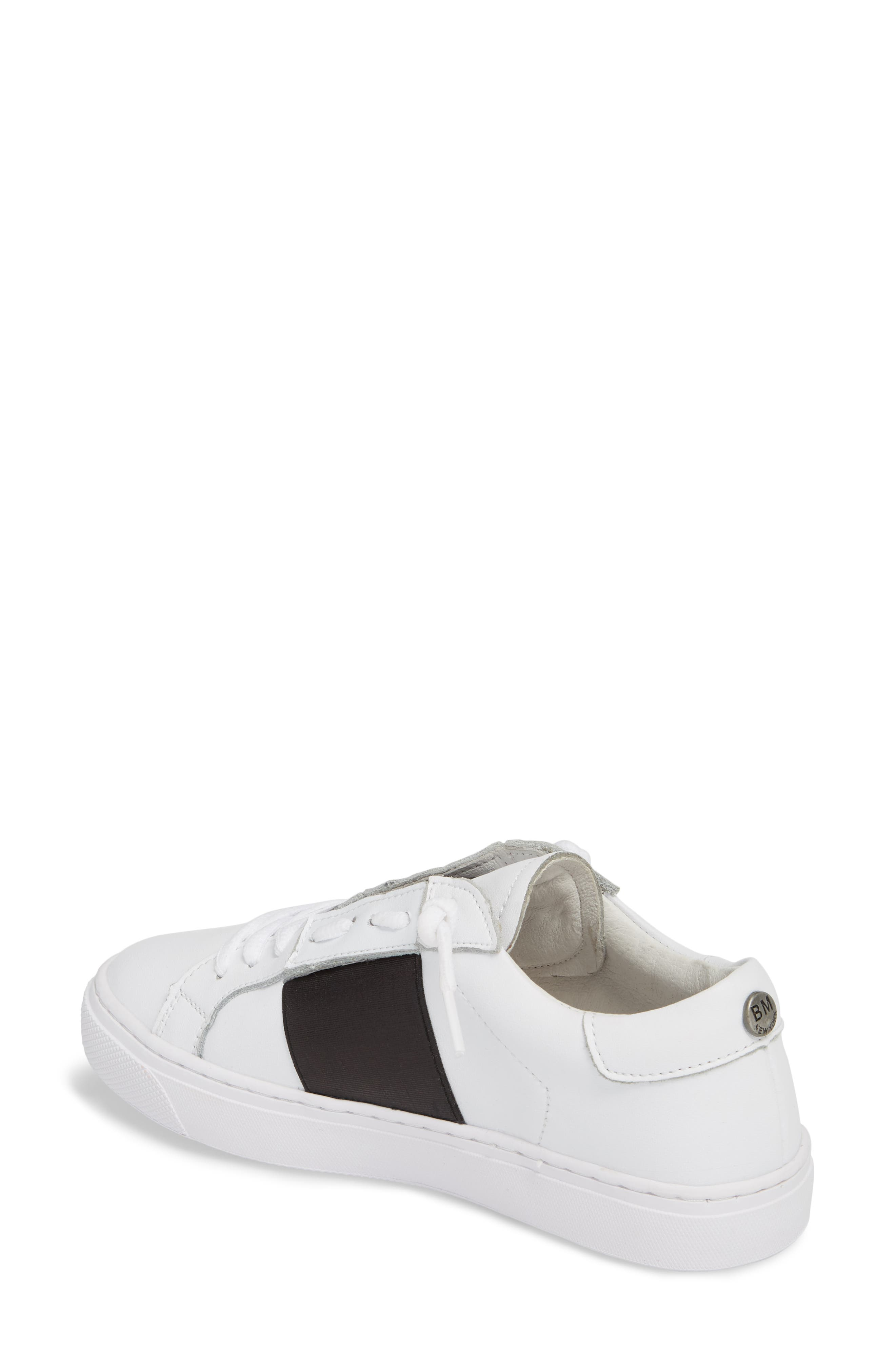 Slip-On Sneaker,                             Alternate thumbnail 2, color,                             BLACK LEATHER