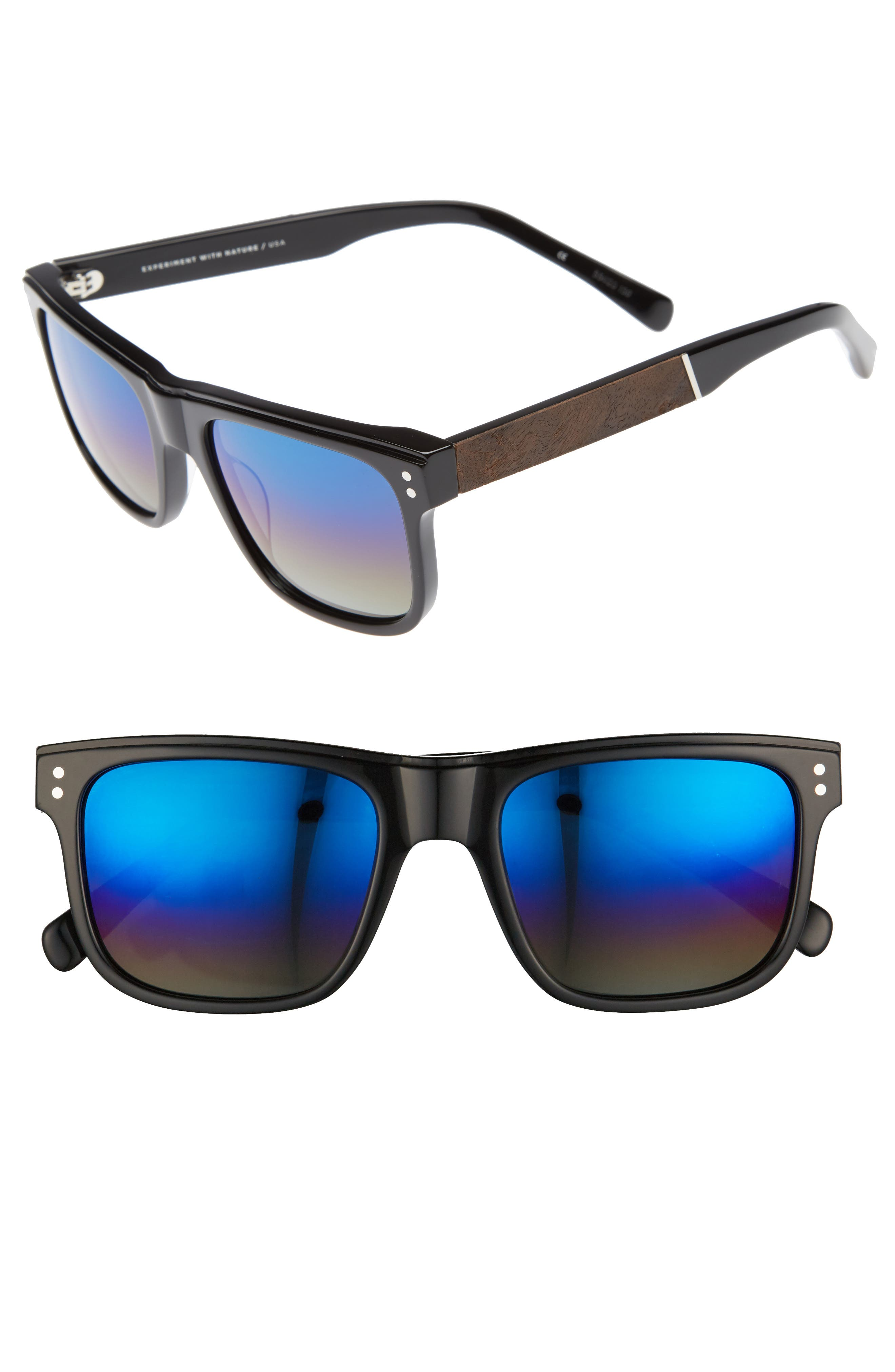Monroe 55mm Polarized Sunglasses,                             Main thumbnail 1, color,                             001