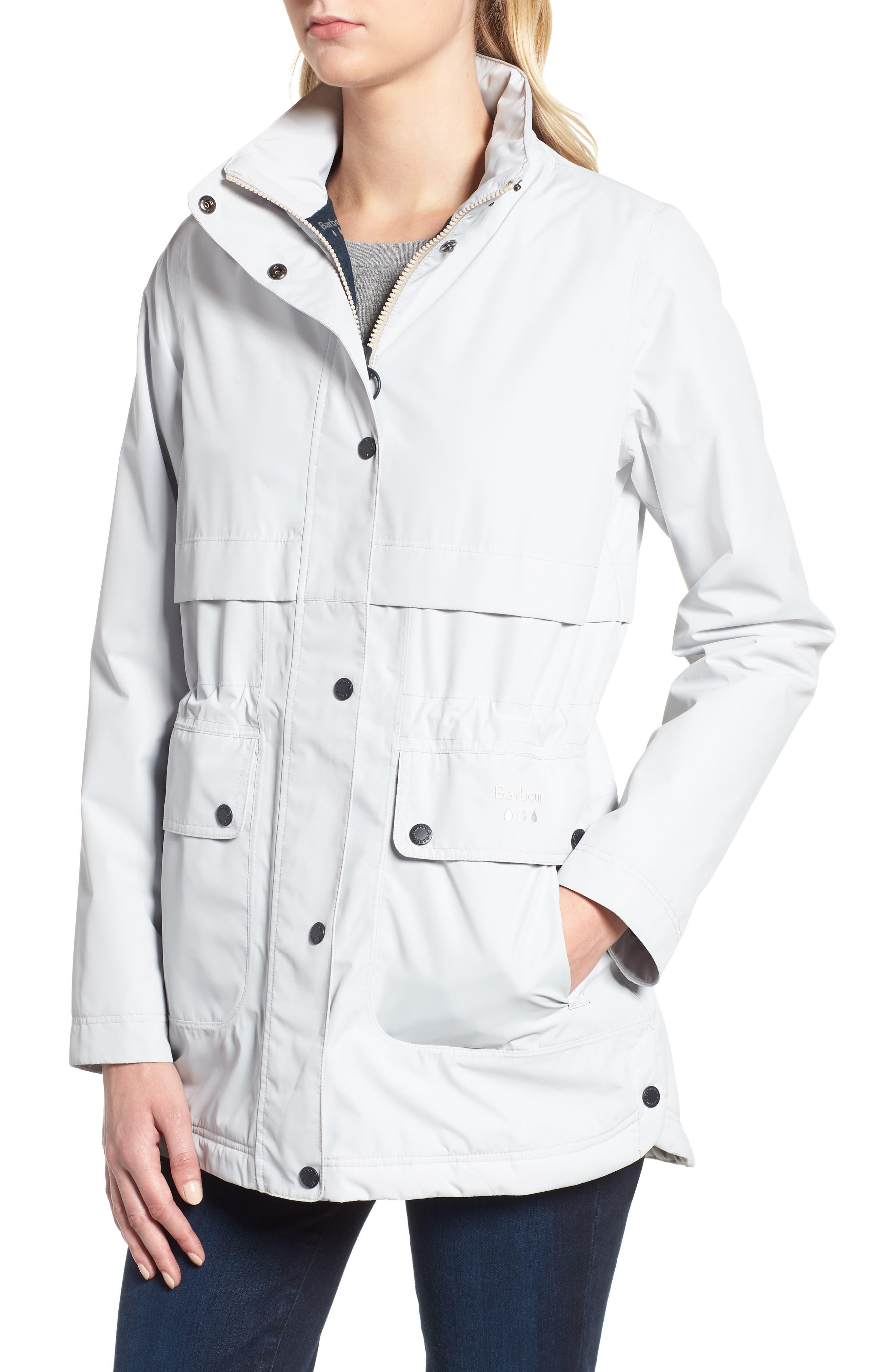 Altair Waterproof Hooded Jacket,                             Alternate thumbnail 4, color,                             ICE WHITE