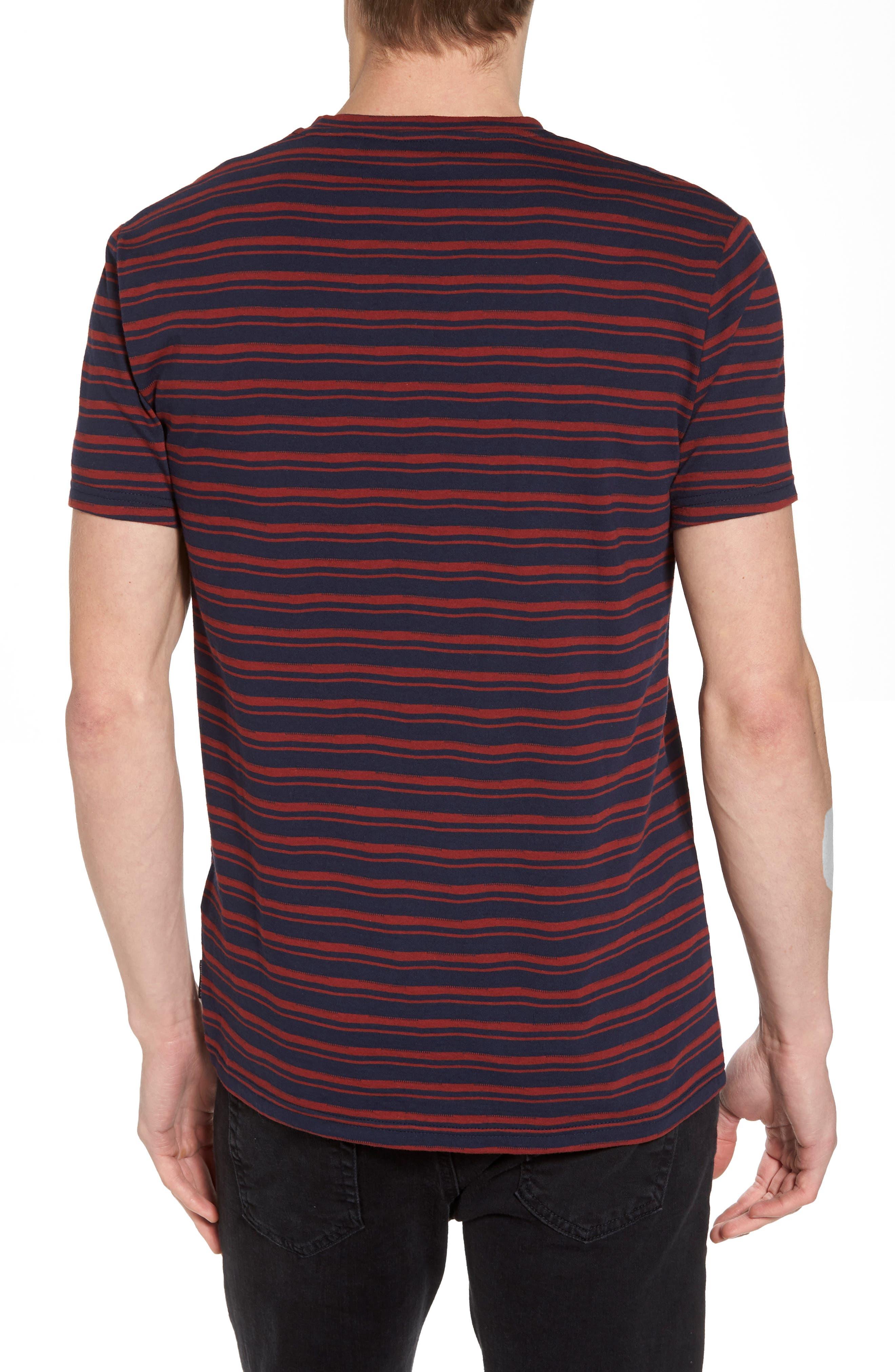 Distorted Stripe T-Shirt,                             Alternate thumbnail 2, color,