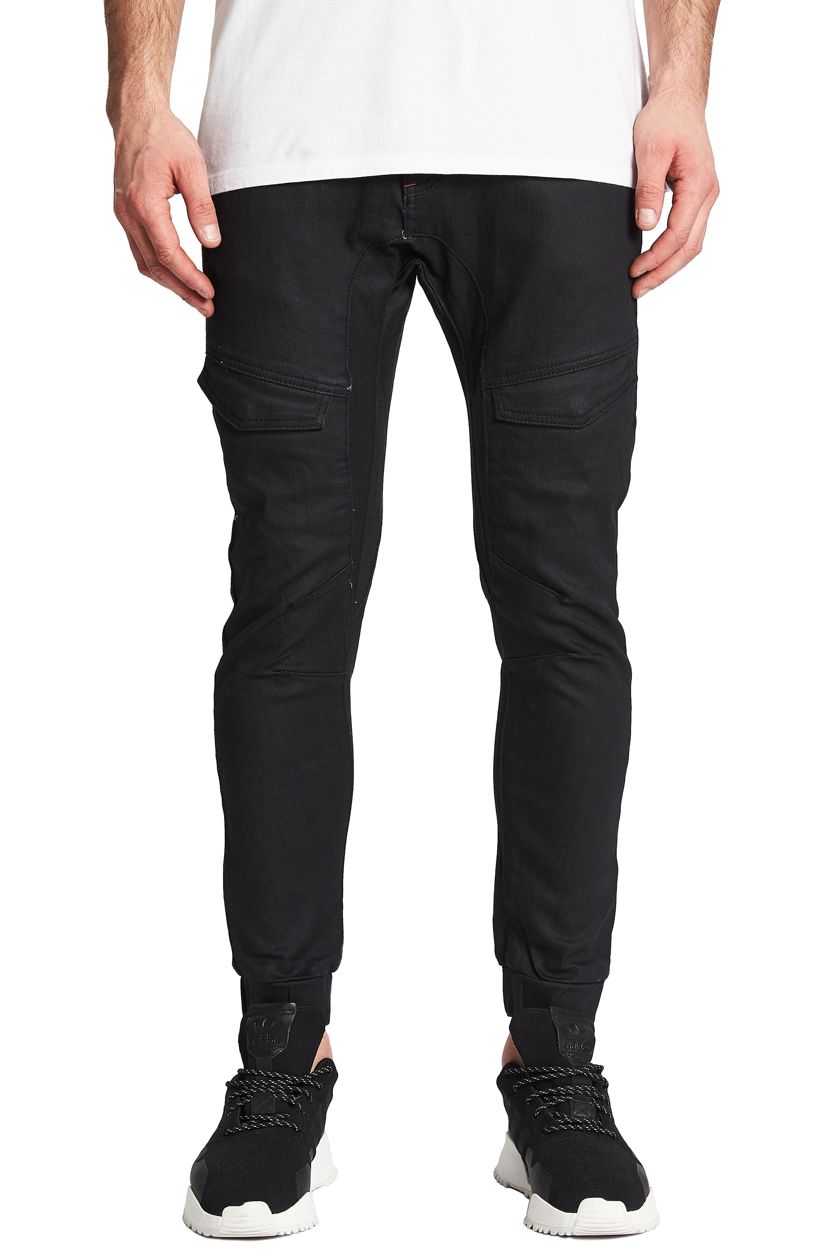 Flight Skinny Denim Jogger Pants,                         Main,                         color, DRY BLACK