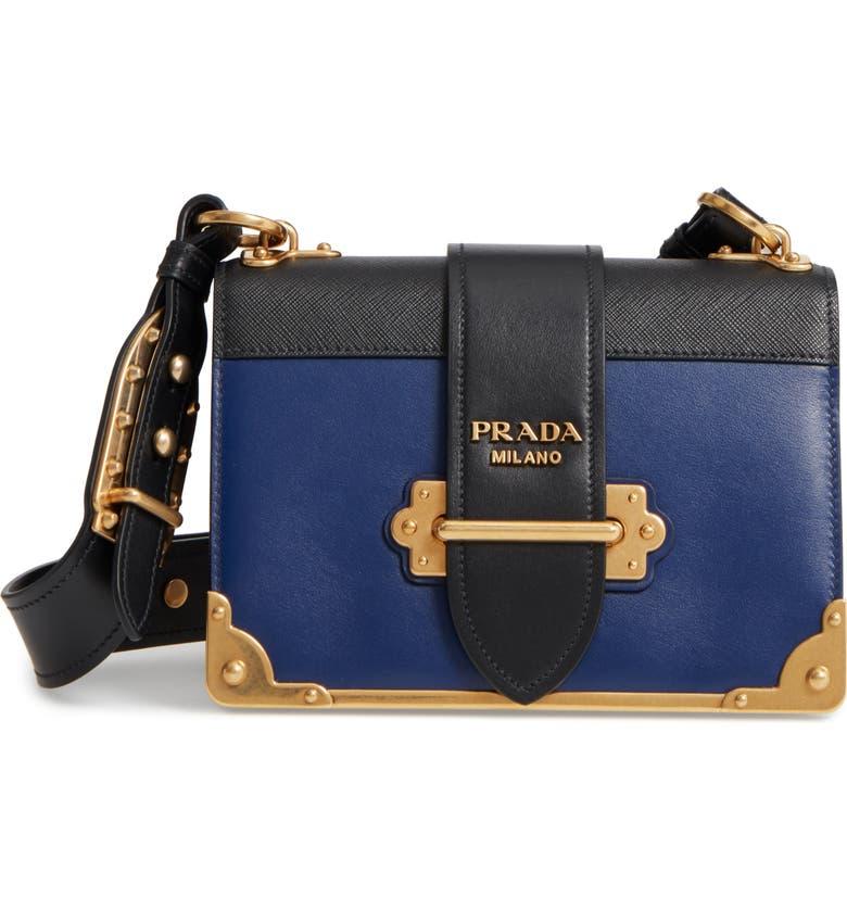 Prada Cahier City Calfskin   Saffiano Shoulder Bag  2d2513f761ede