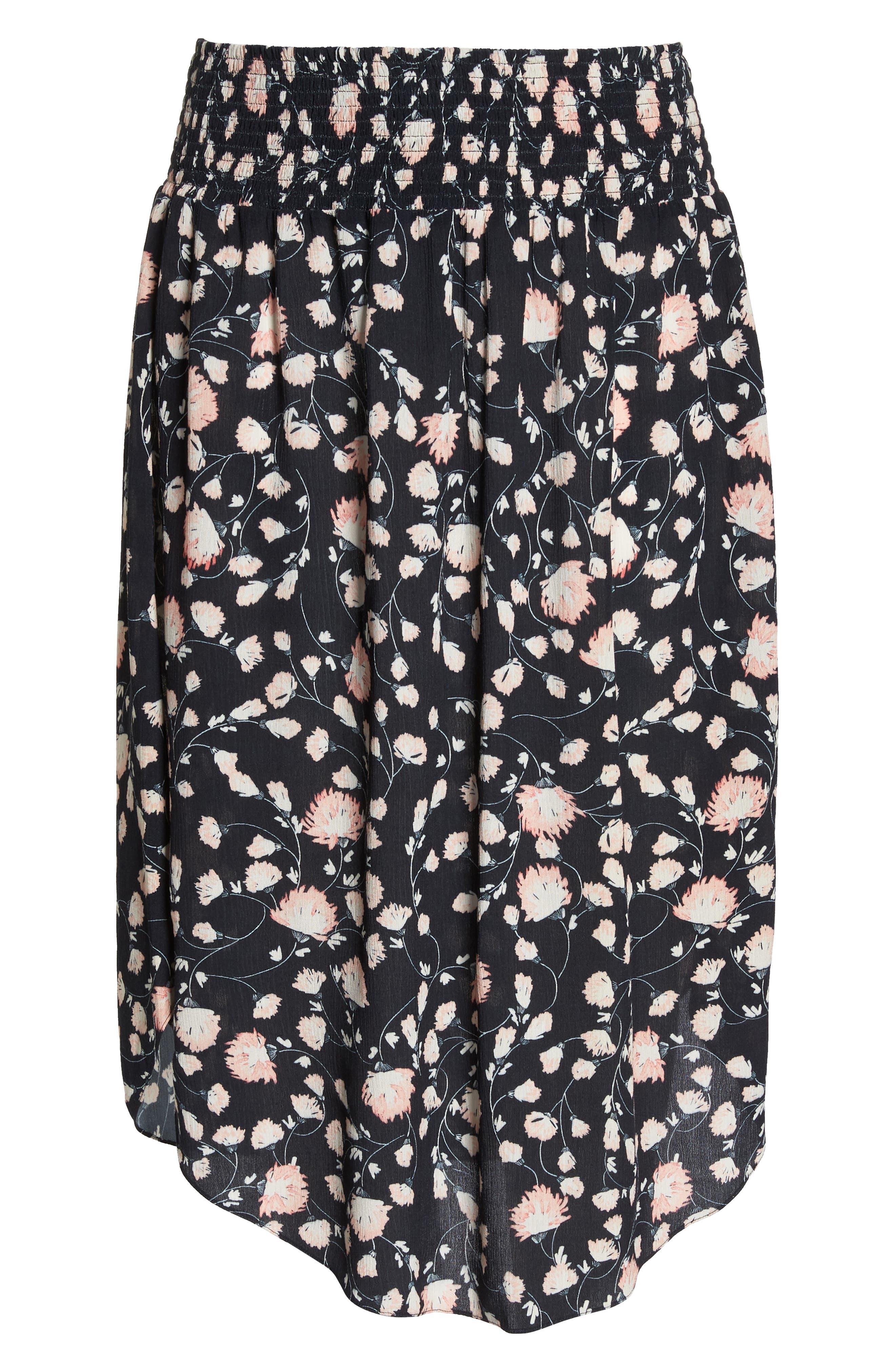 Smocked Waist Skirt,                             Alternate thumbnail 6, color,                             002