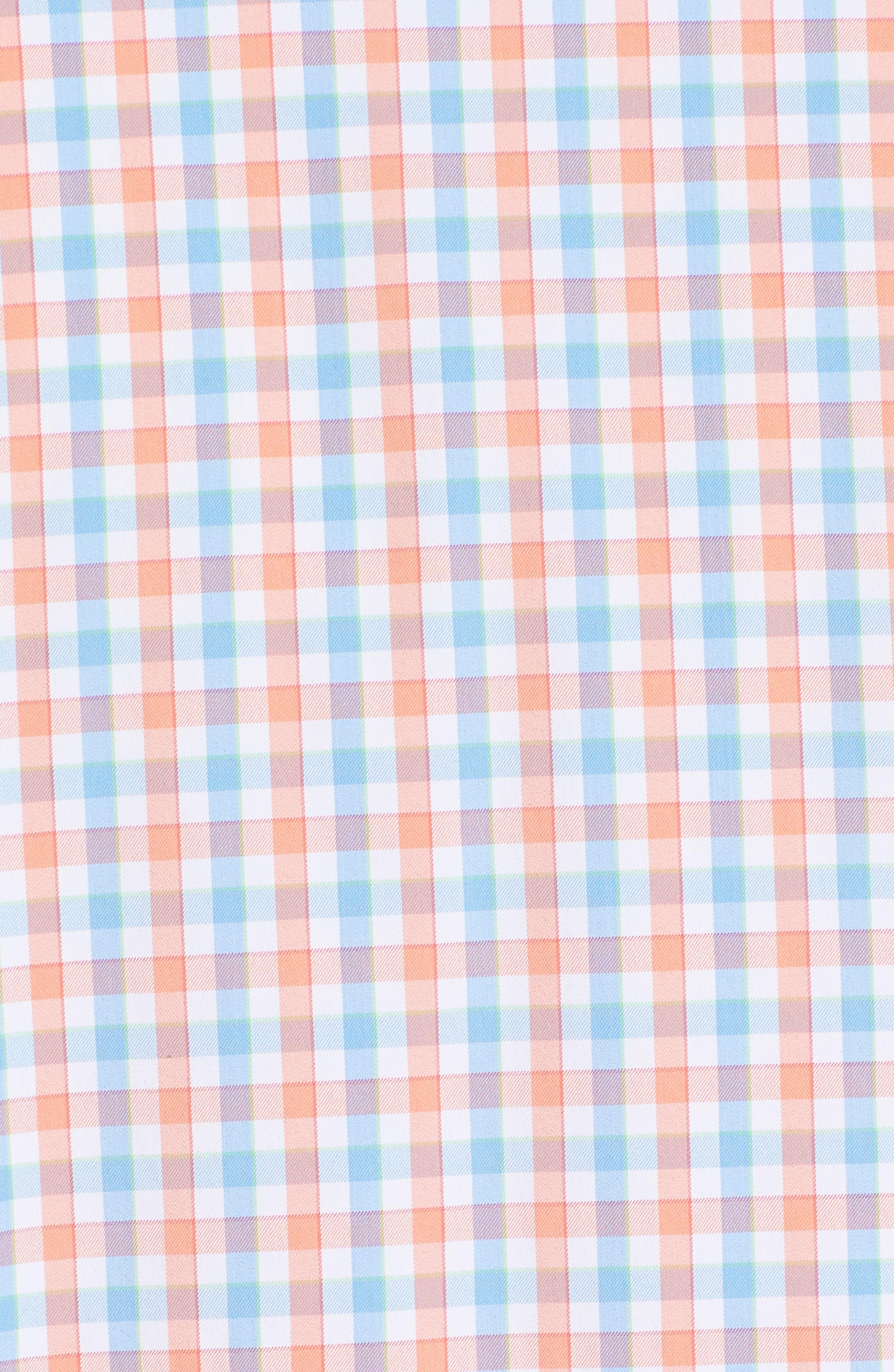 Market Square Regular Fit Stretch Check Sport Shirt,                             Alternate thumbnail 5, color,                             801