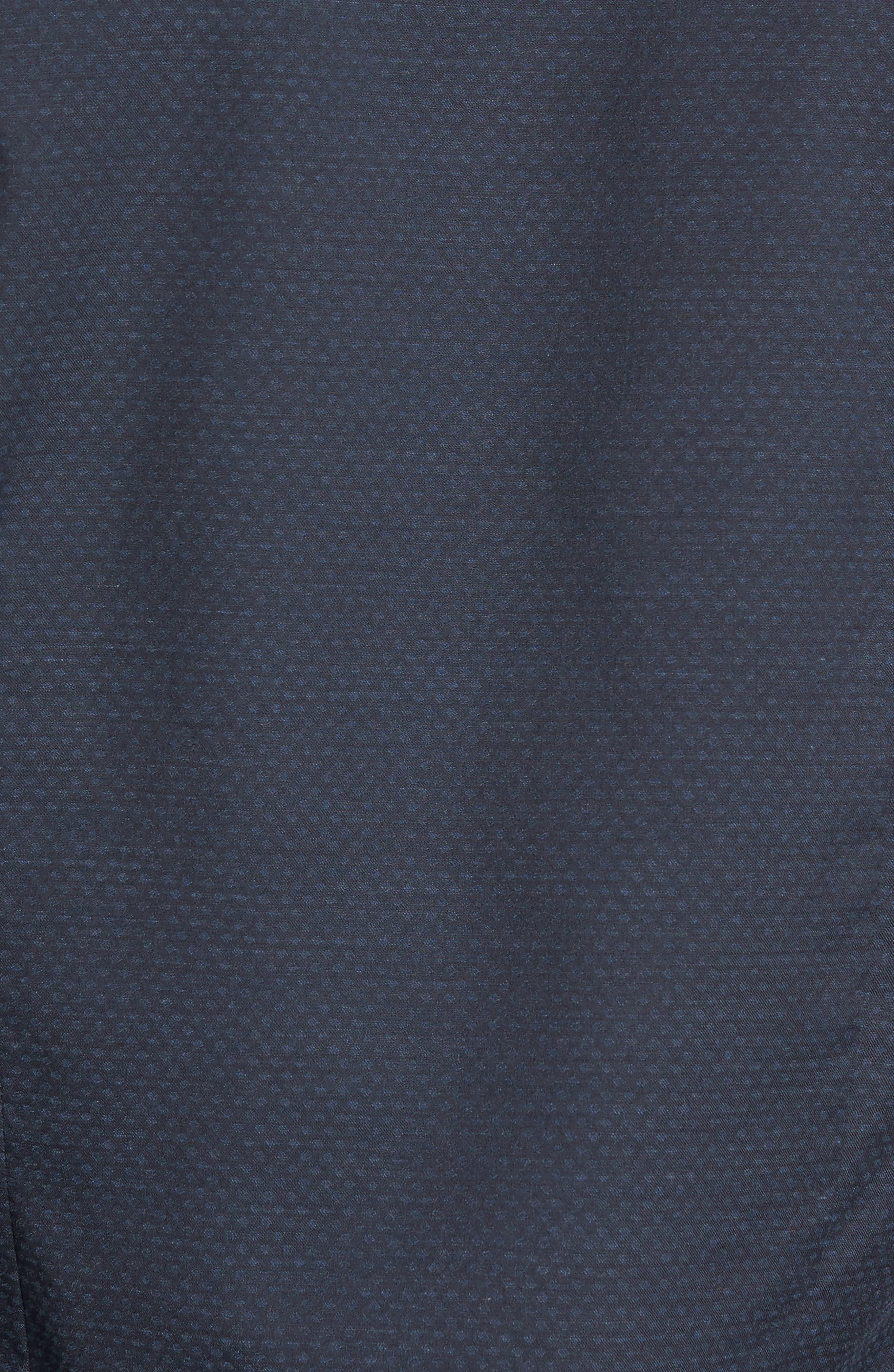 Trim Fit Print Sport Shirt,                             Alternate thumbnail 5, color,