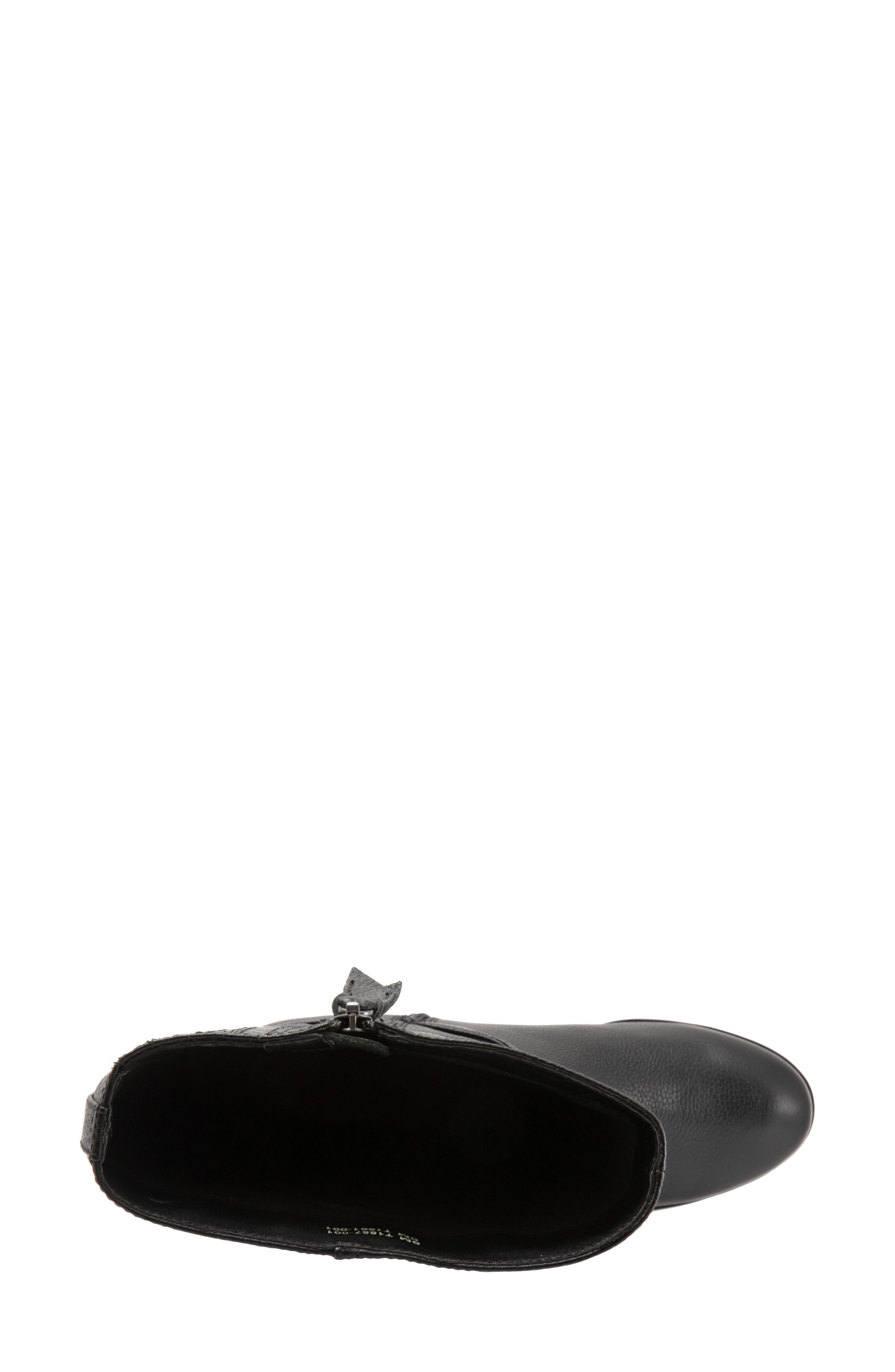 Liberty Tall Boot,                             Alternate thumbnail 5, color,                             BLACK LEATHER